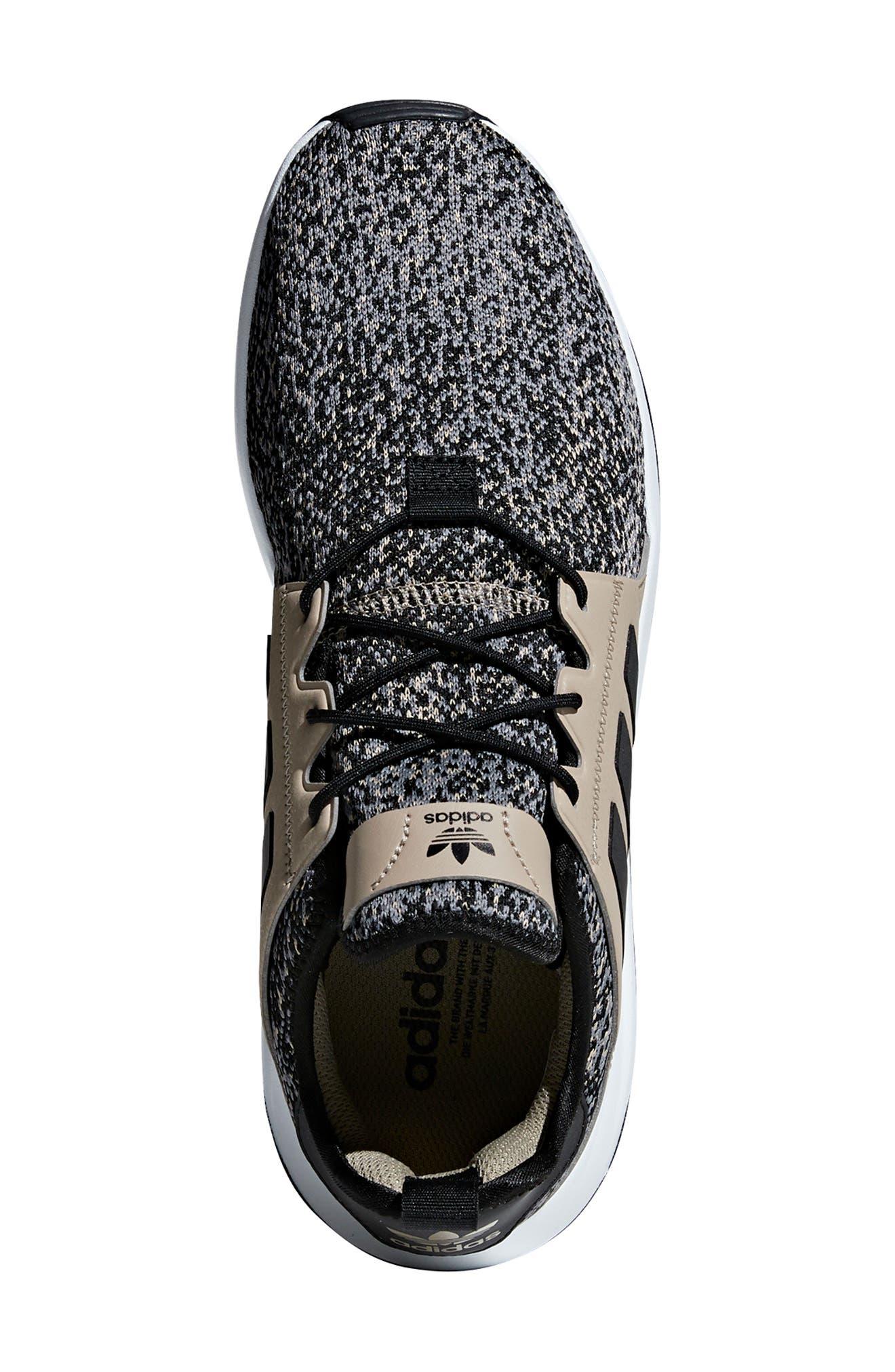X_PLR Sneaker,                             Alternate thumbnail 4, color,                             KHAKI / CORE BLACK / WHITE