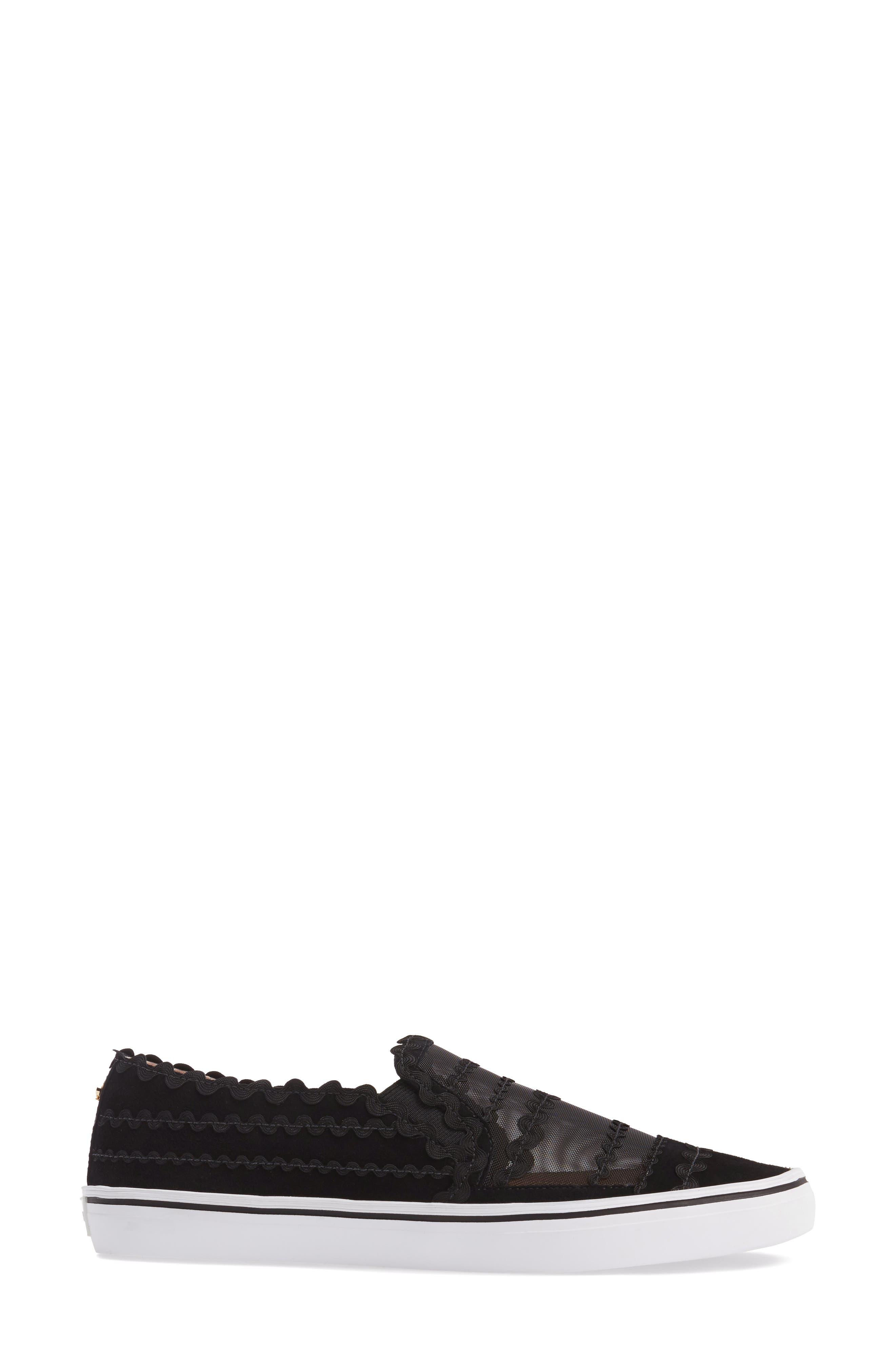 senza slip-on sneaker,                             Alternate thumbnail 3, color,                             001