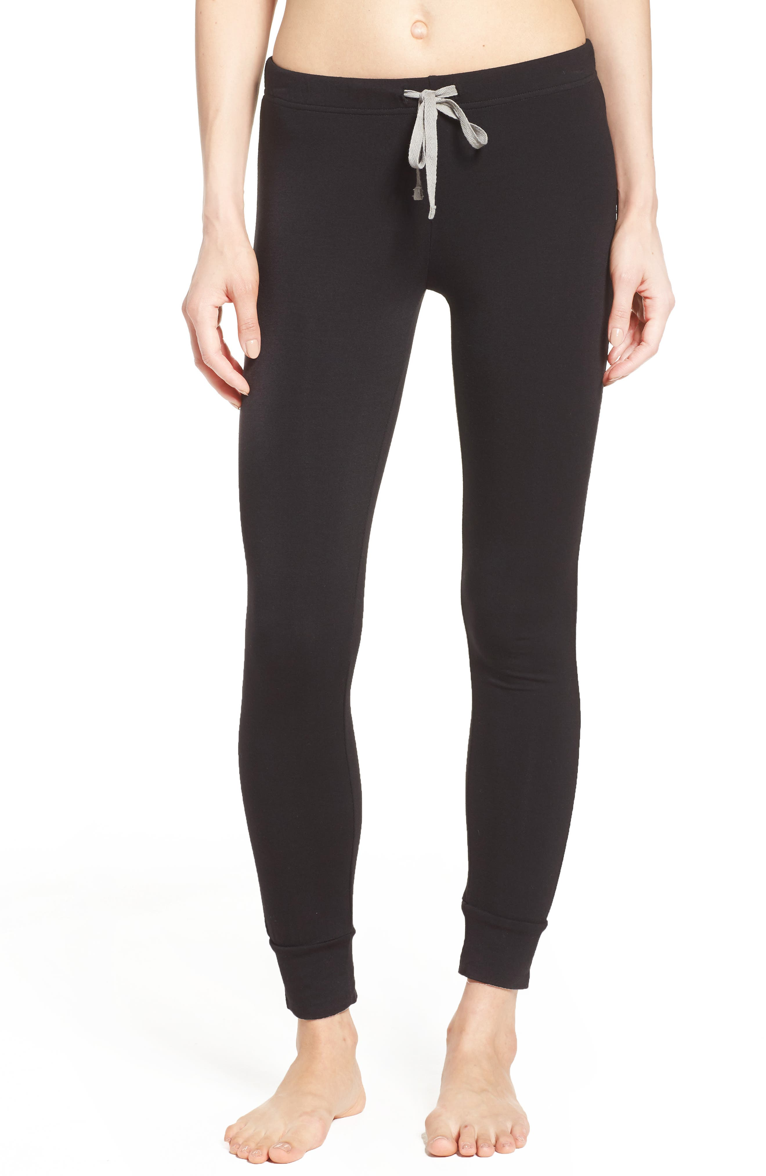 Kickin' It French Terry Lounge Pants,                         Main,                         color, BLACK
