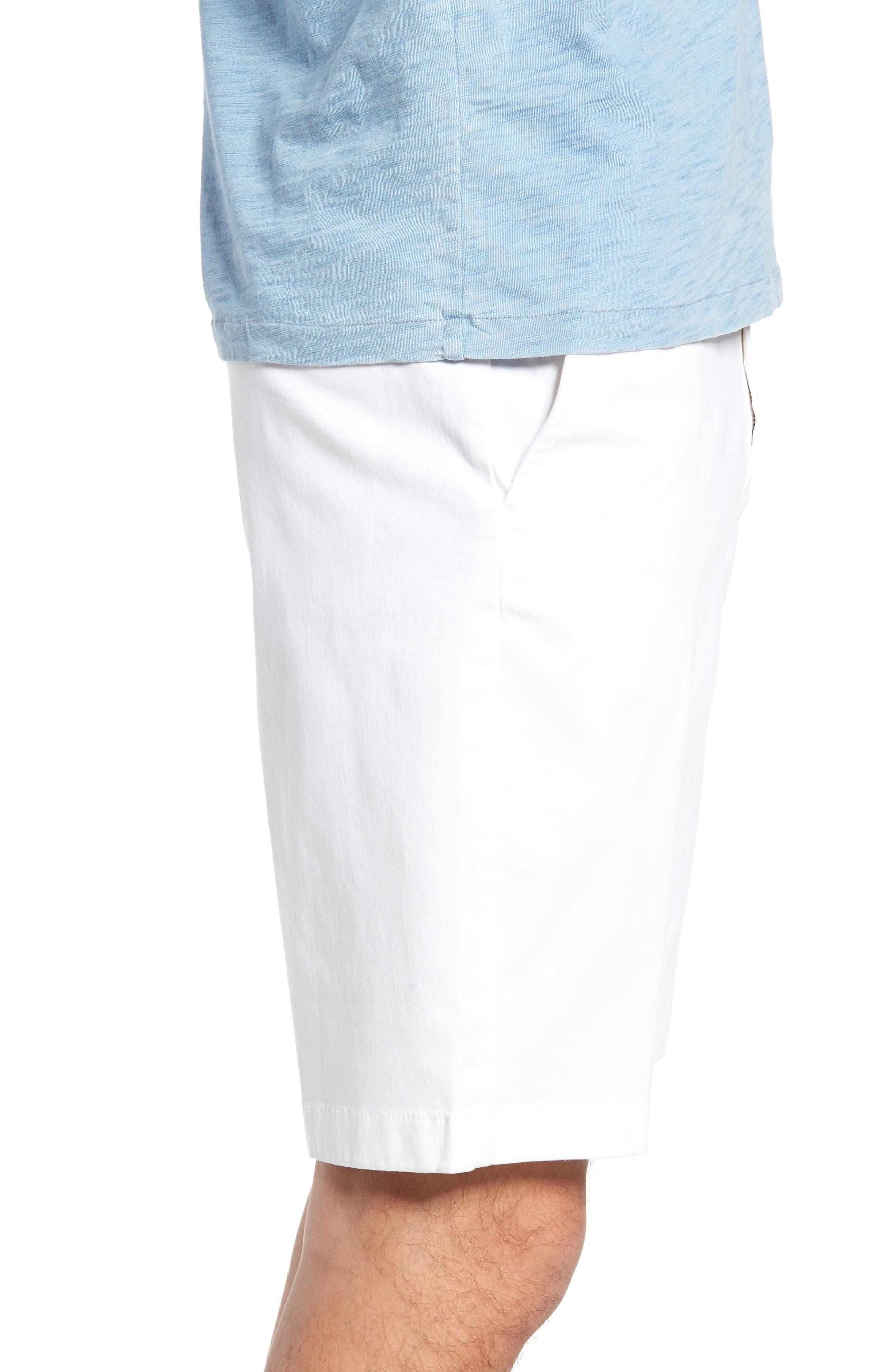 Flat Front Shorts,                             Alternate thumbnail 3, color,                             WHITE