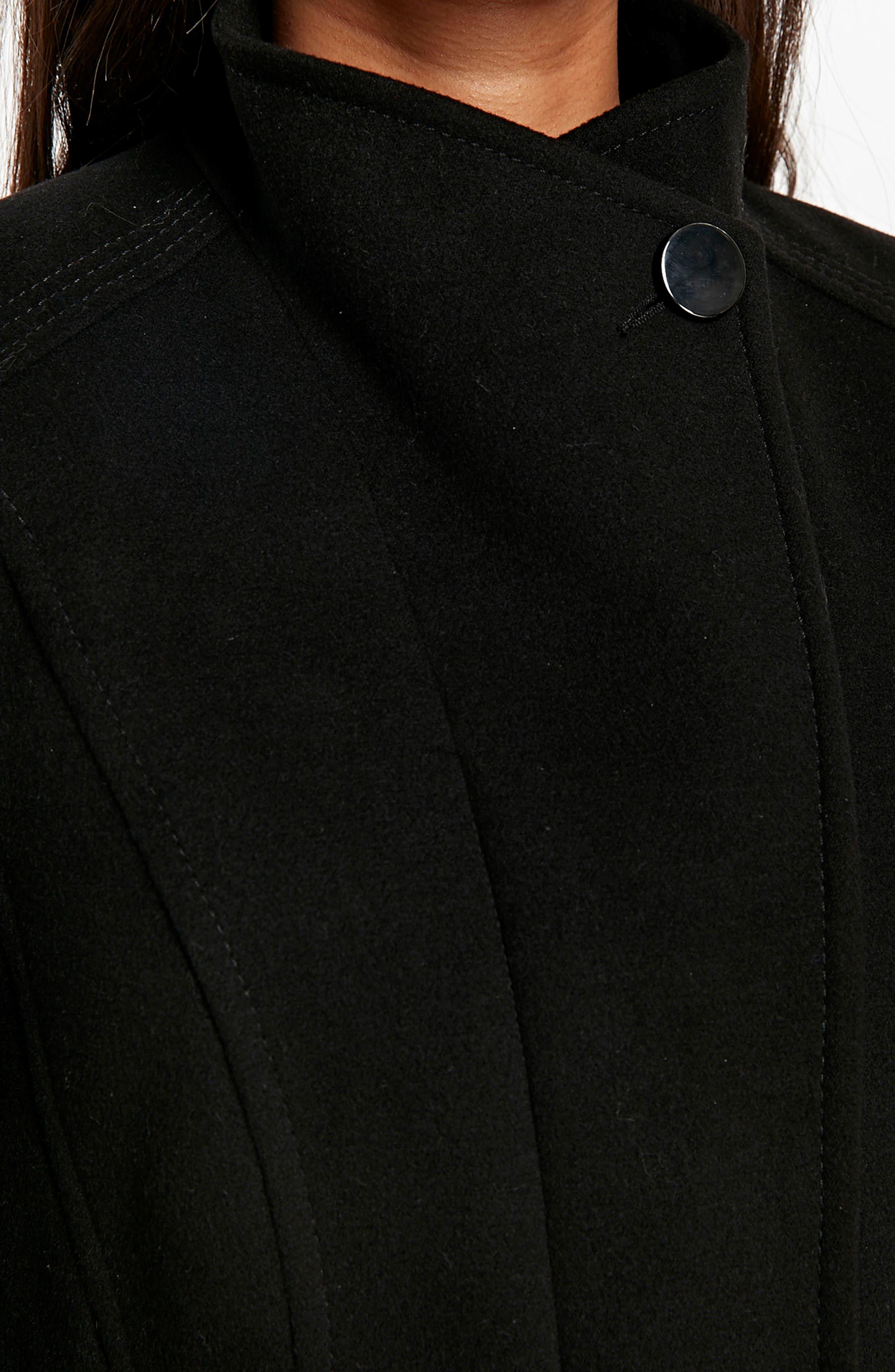 Funnel Neck Coat,                             Alternate thumbnail 3, color,                             001