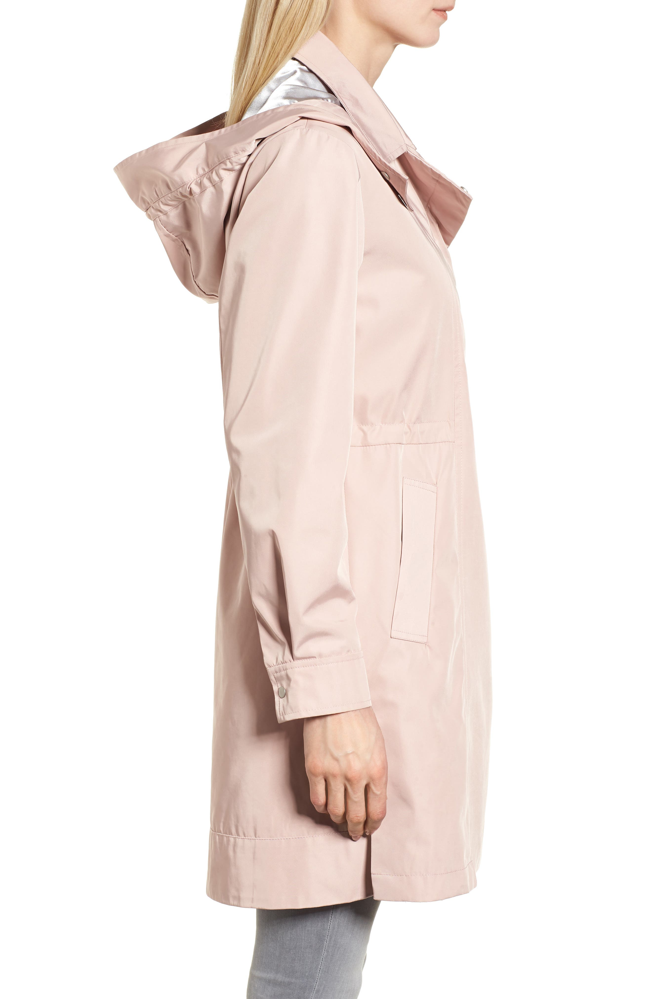 Tech Hooded Trench Coat,                             Alternate thumbnail 6, color,