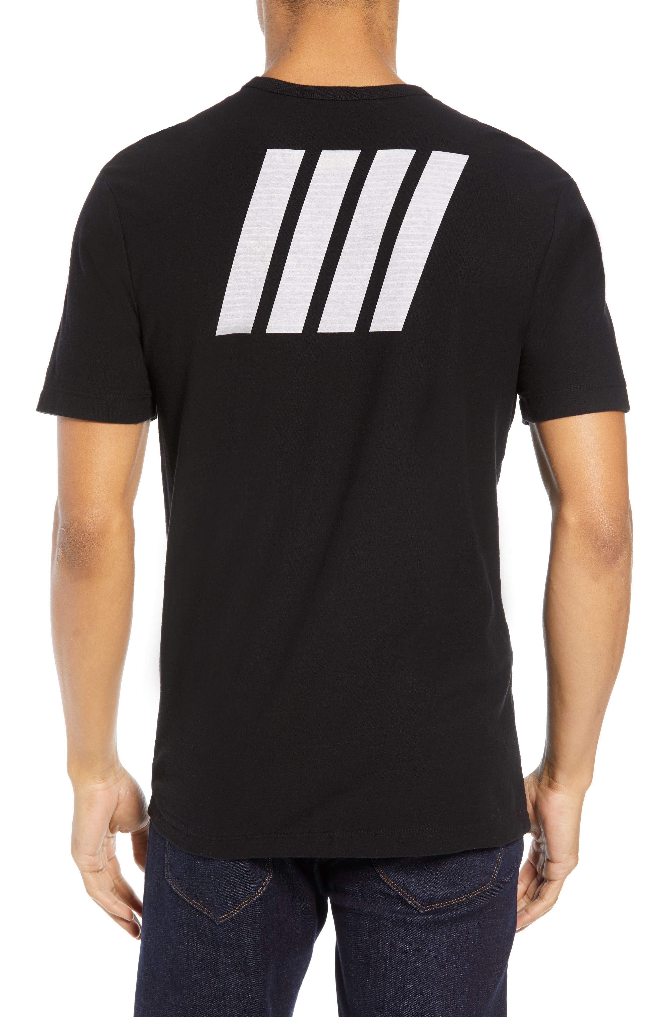 Microstripe Graphic T-Shirt,                             Alternate thumbnail 2, color,                             001