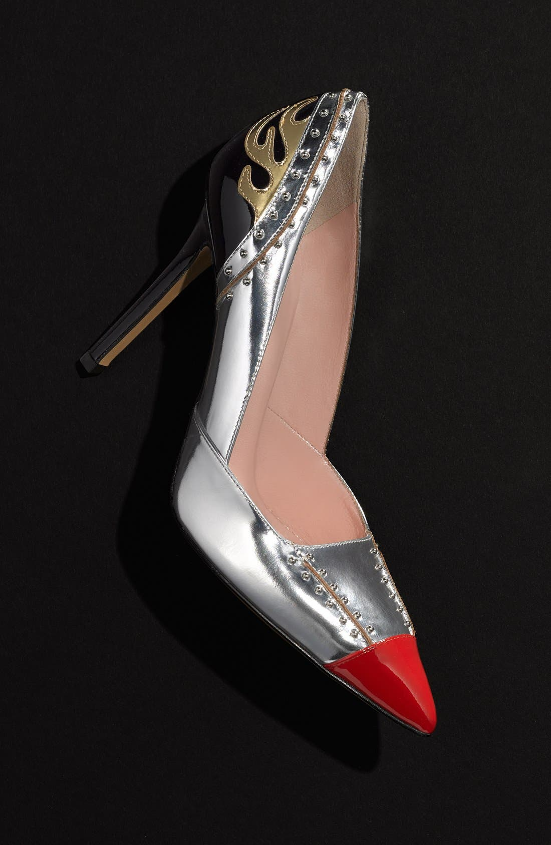'lunar' pointy toe pump,                             Alternate thumbnail 5, color,                             040