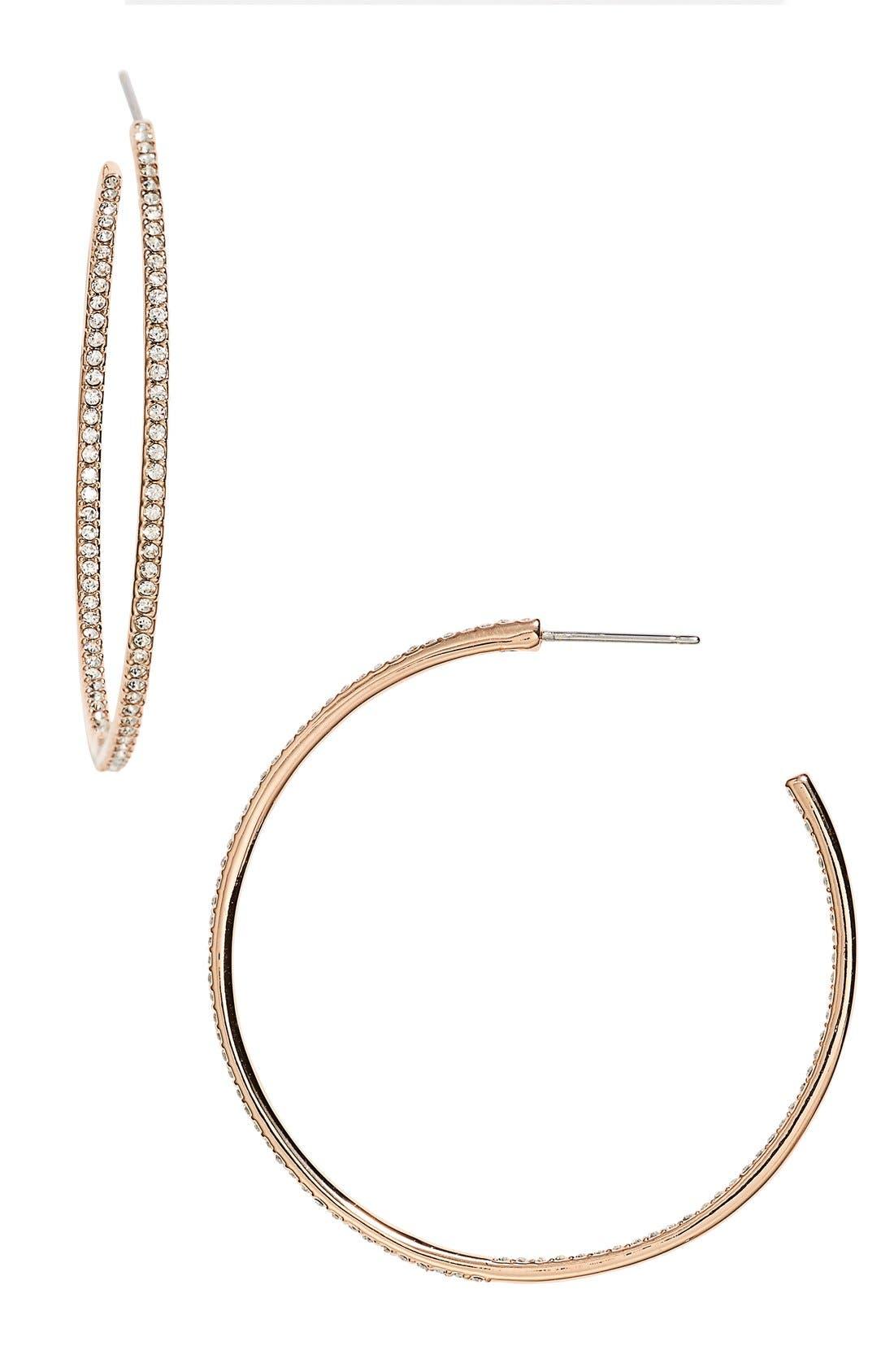 Medium Inside Out Hoop Earrings,                         Main,                         color, ROSE GOLD