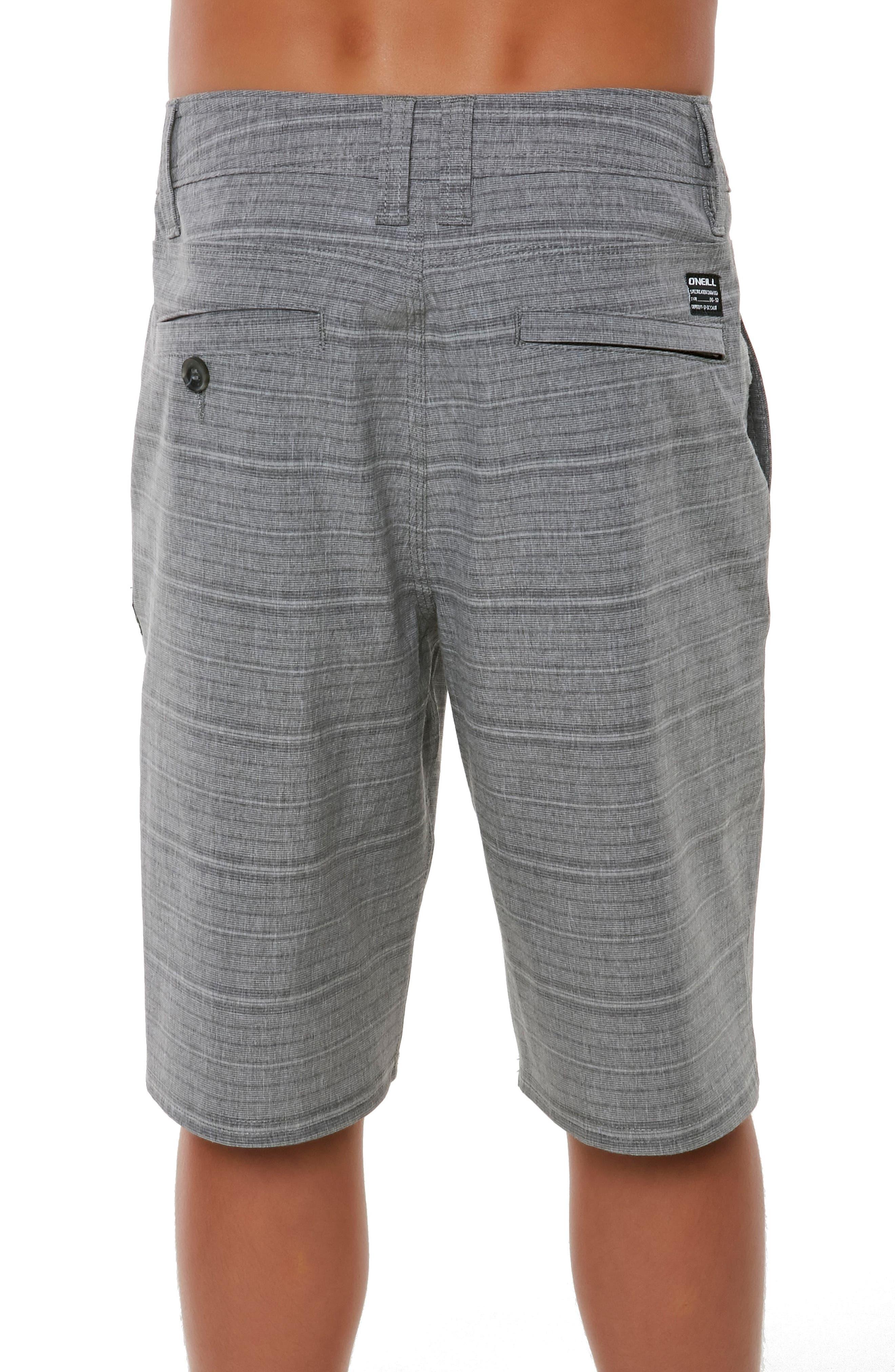 Locked Stripe Hybrid Shorts,                             Alternate thumbnail 3, color,                             020