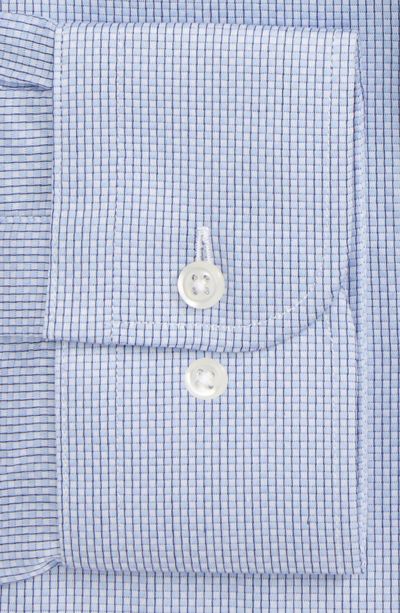 Trim Fit Stripe Dress Shirt,                             Alternate thumbnail 17, color,