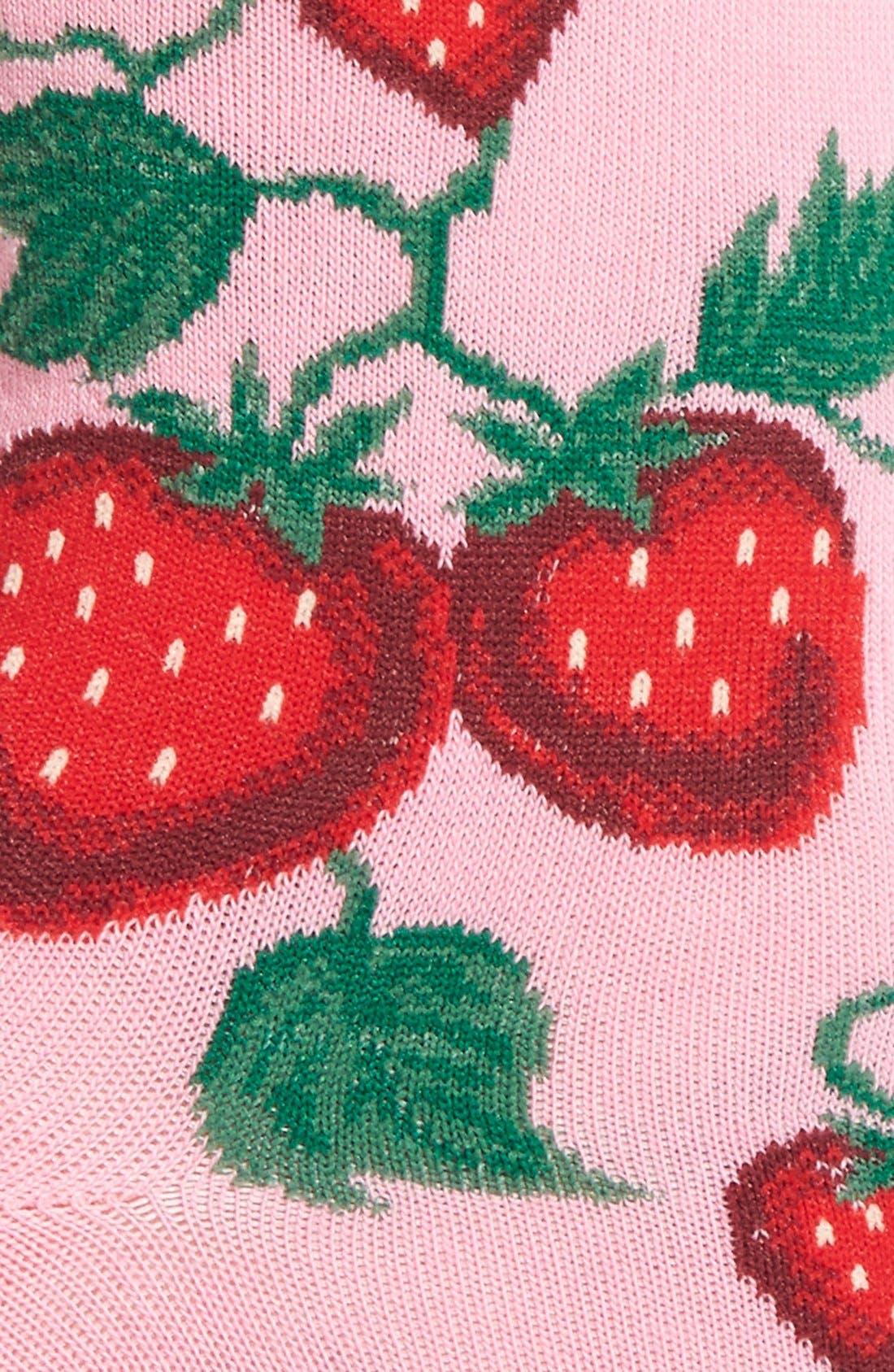 'Strawberries' Socks,                             Alternate thumbnail 6, color,