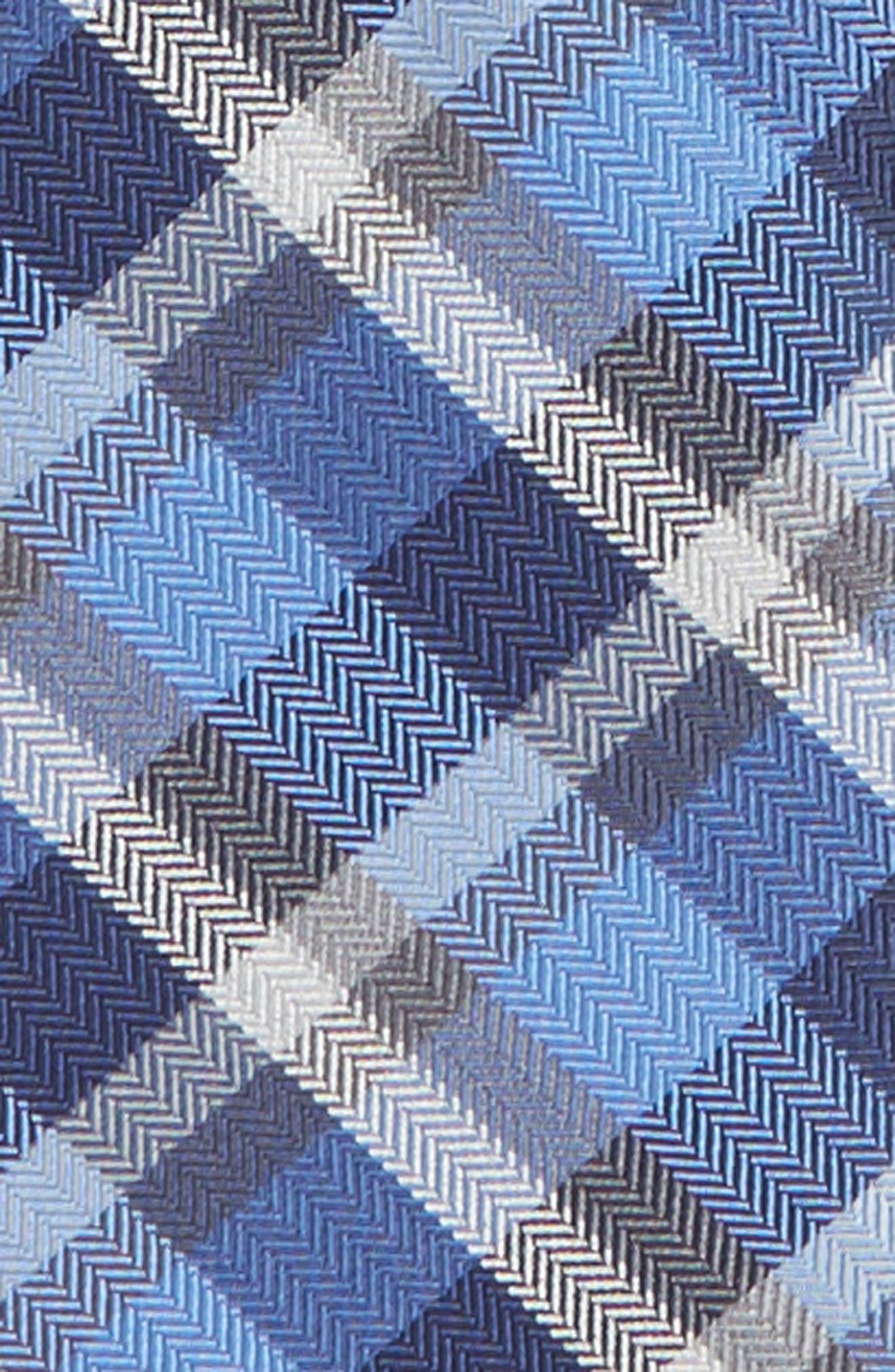 Plaid Silk Blend Zip Tie,                             Alternate thumbnail 2, color,                             410