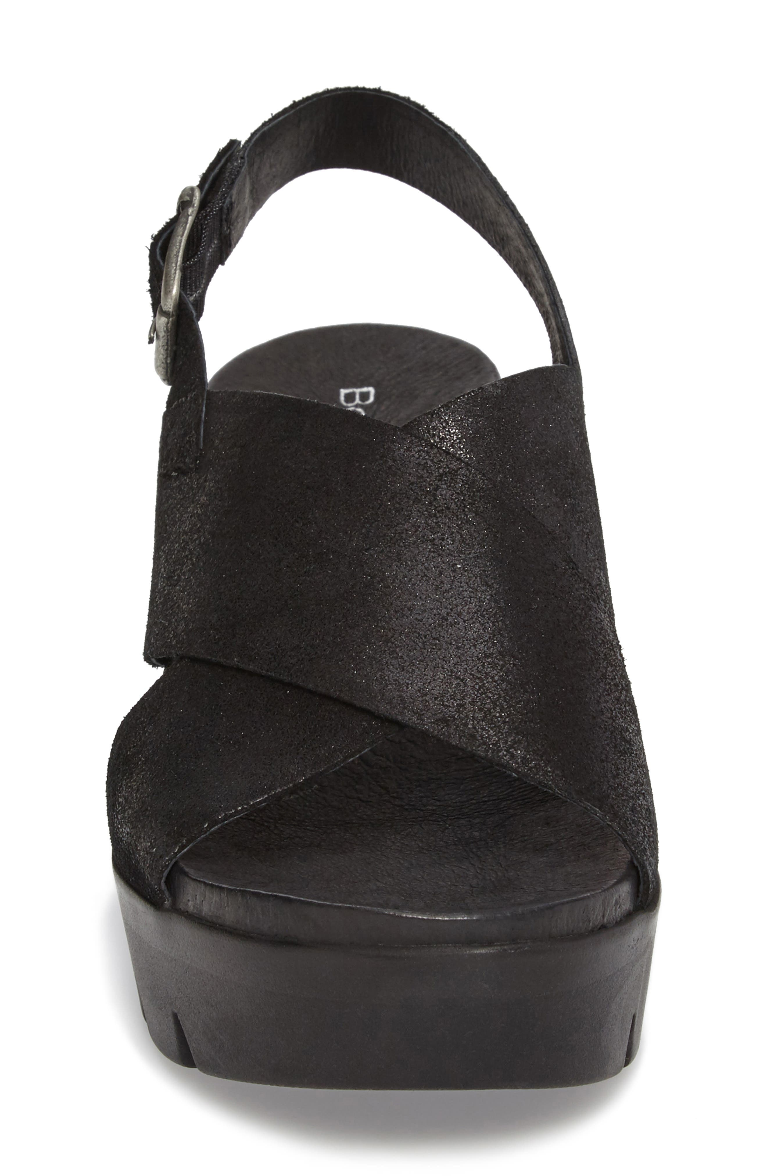 Payton Platform Wedge Sandal,                             Alternate thumbnail 4, color,                             001