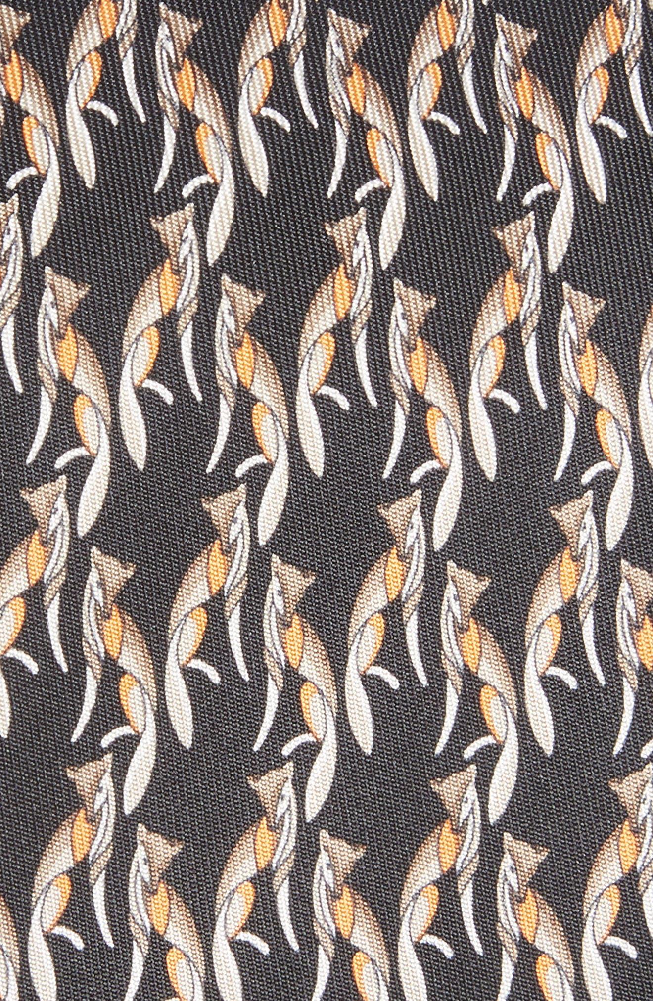 Fidia Print Silk Tie,                             Alternate thumbnail 2, color,                             BLACK