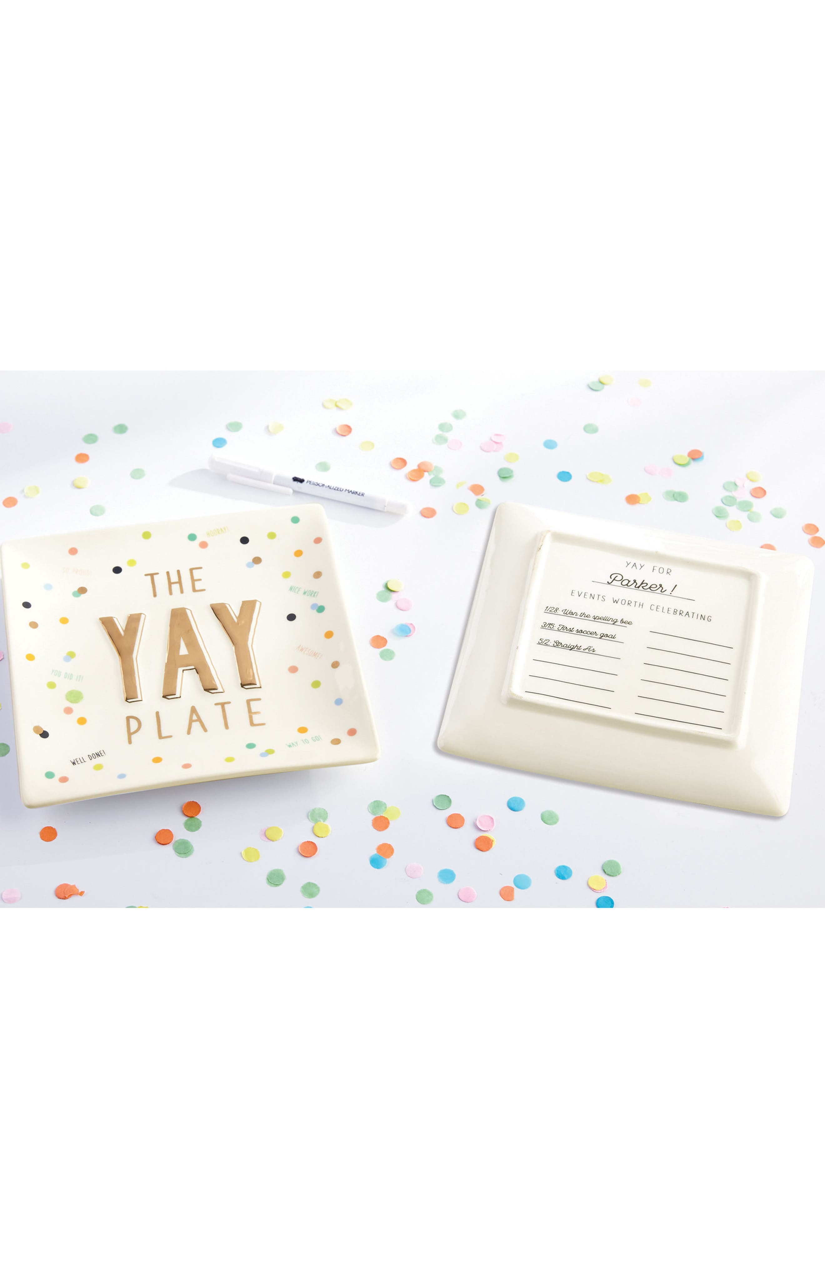 The Yay Plate,                             Alternate thumbnail 2, color,                             100