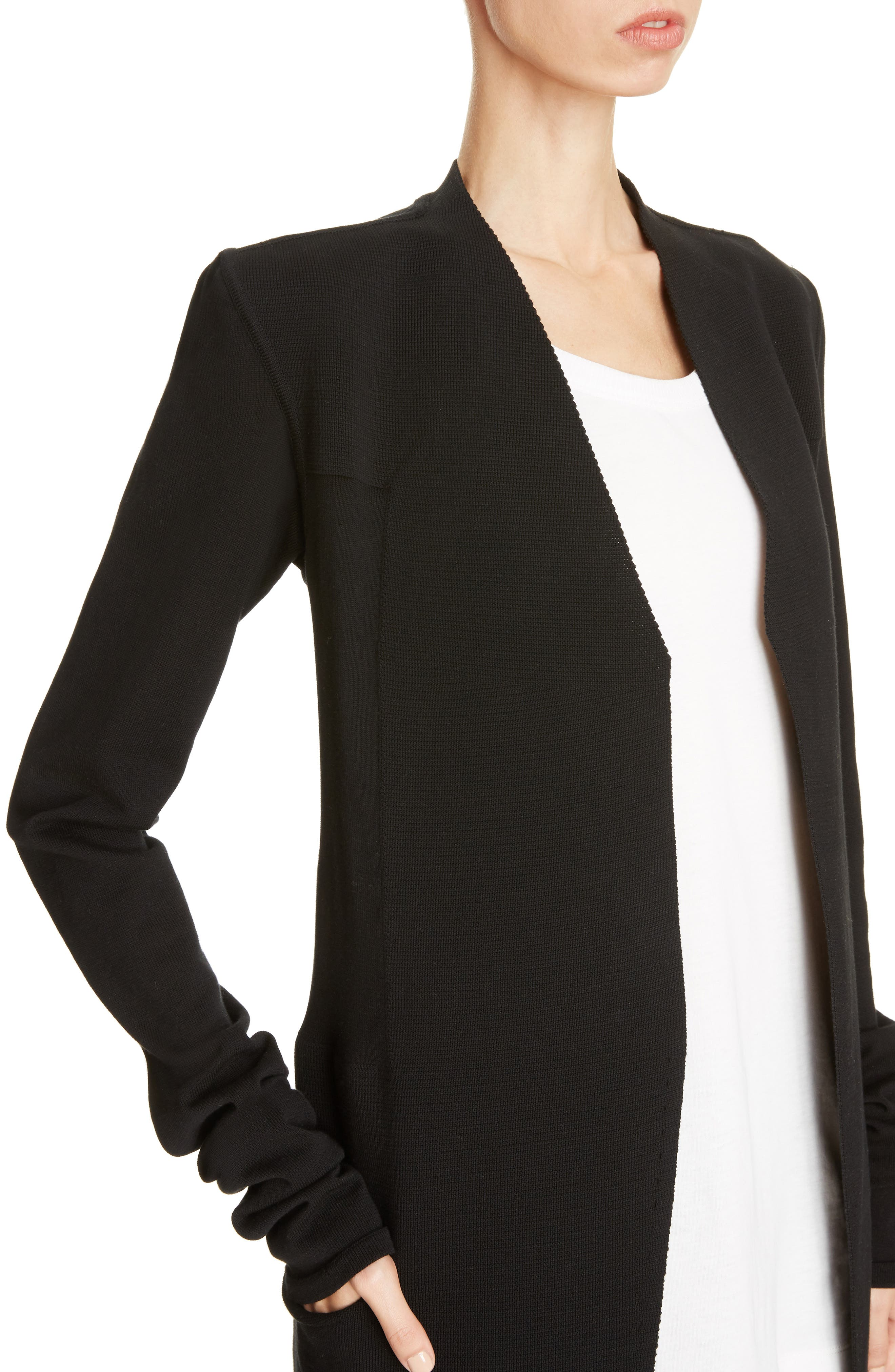Structured Longline Cardigan,                             Alternate thumbnail 4, color,                             009
