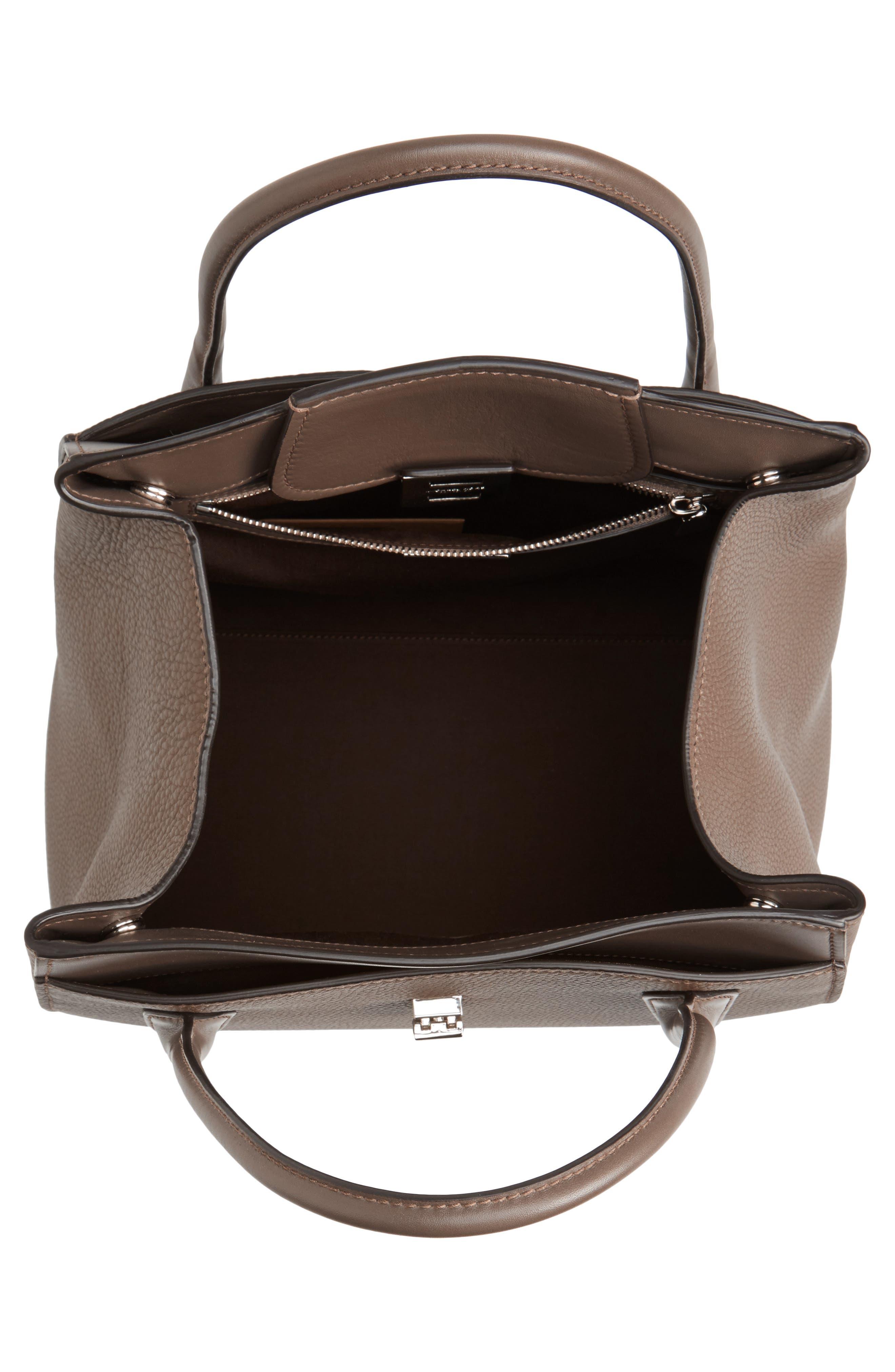 Large Barncroft Leather Convertible Satchel,                             Alternate thumbnail 4, color,                             020
