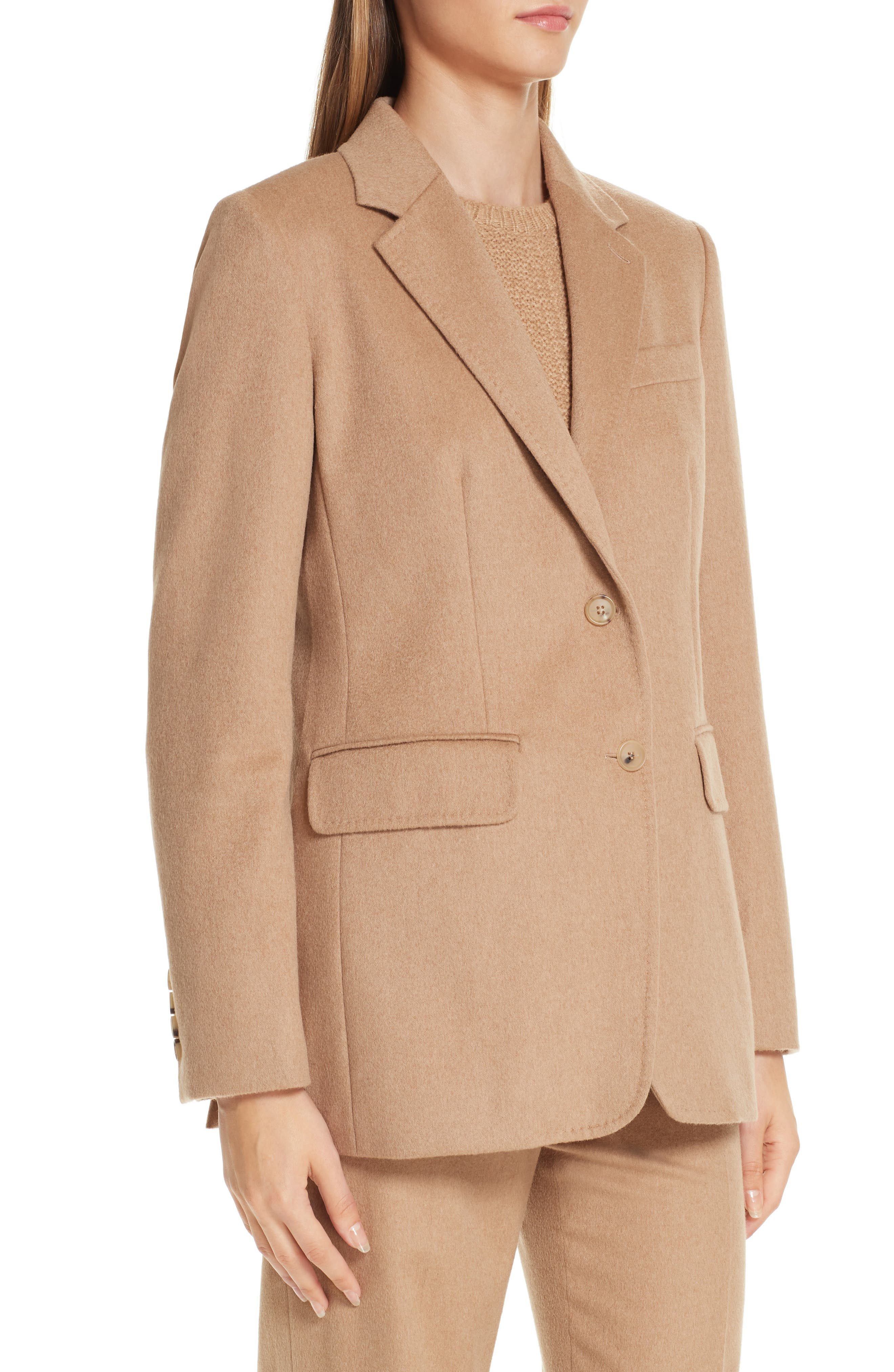 Panteon Camel Hair Jacket,                             Alternate thumbnail 4, color,                             232