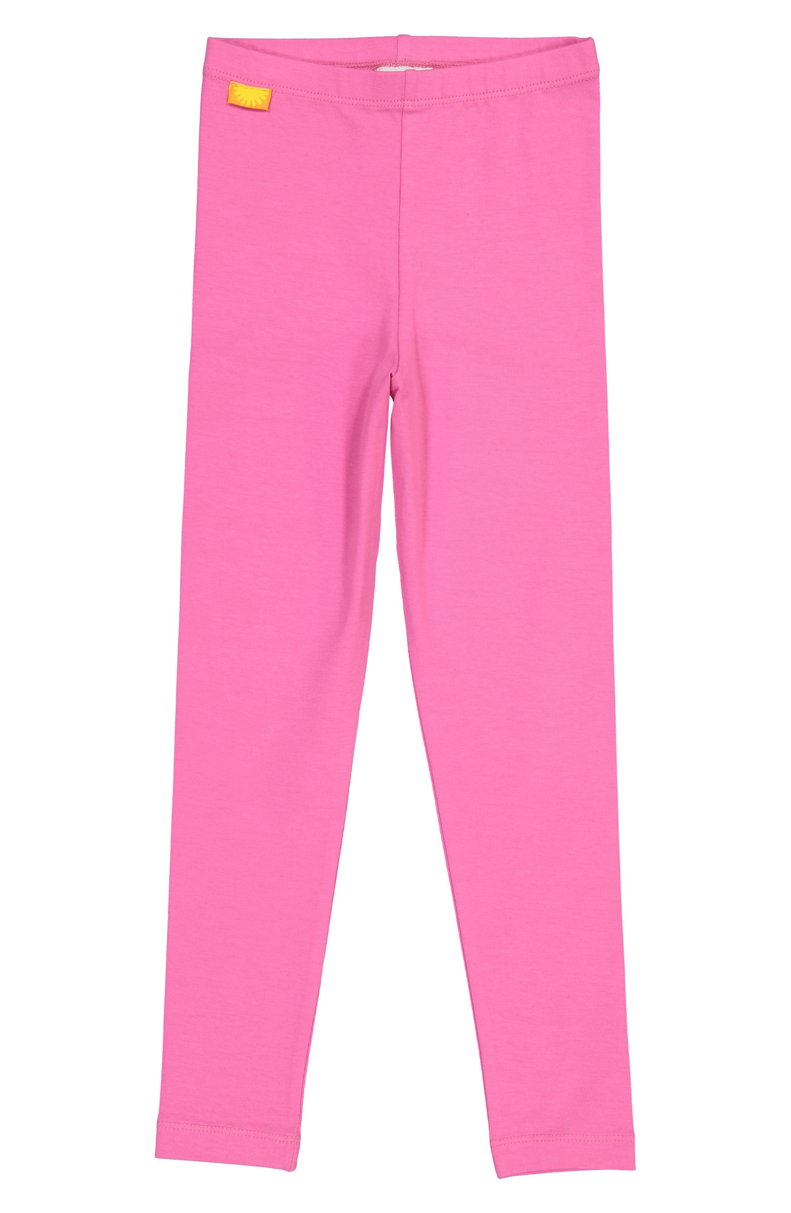 Organic Cotton Leggings,                         Main,                         color, PINK