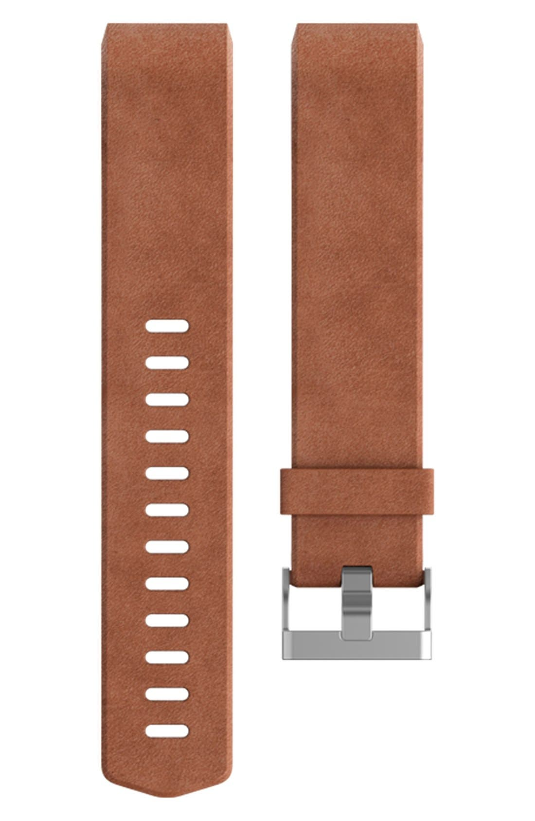 FITBIT Charge 2 Leather Accessory Band, Main, color, 200