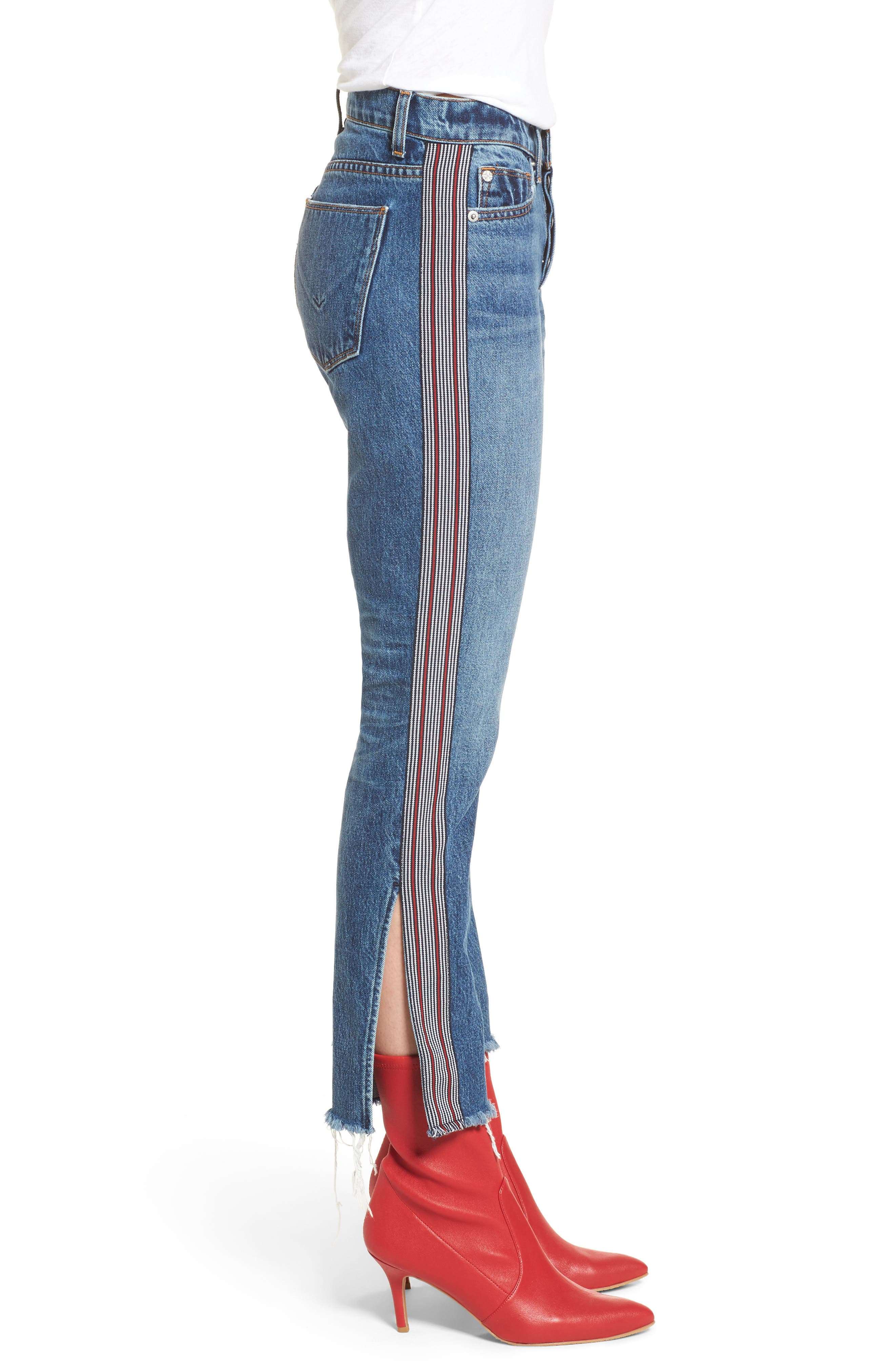 Riley Crop Straight Leg Jeans,                             Alternate thumbnail 3, color,                             424