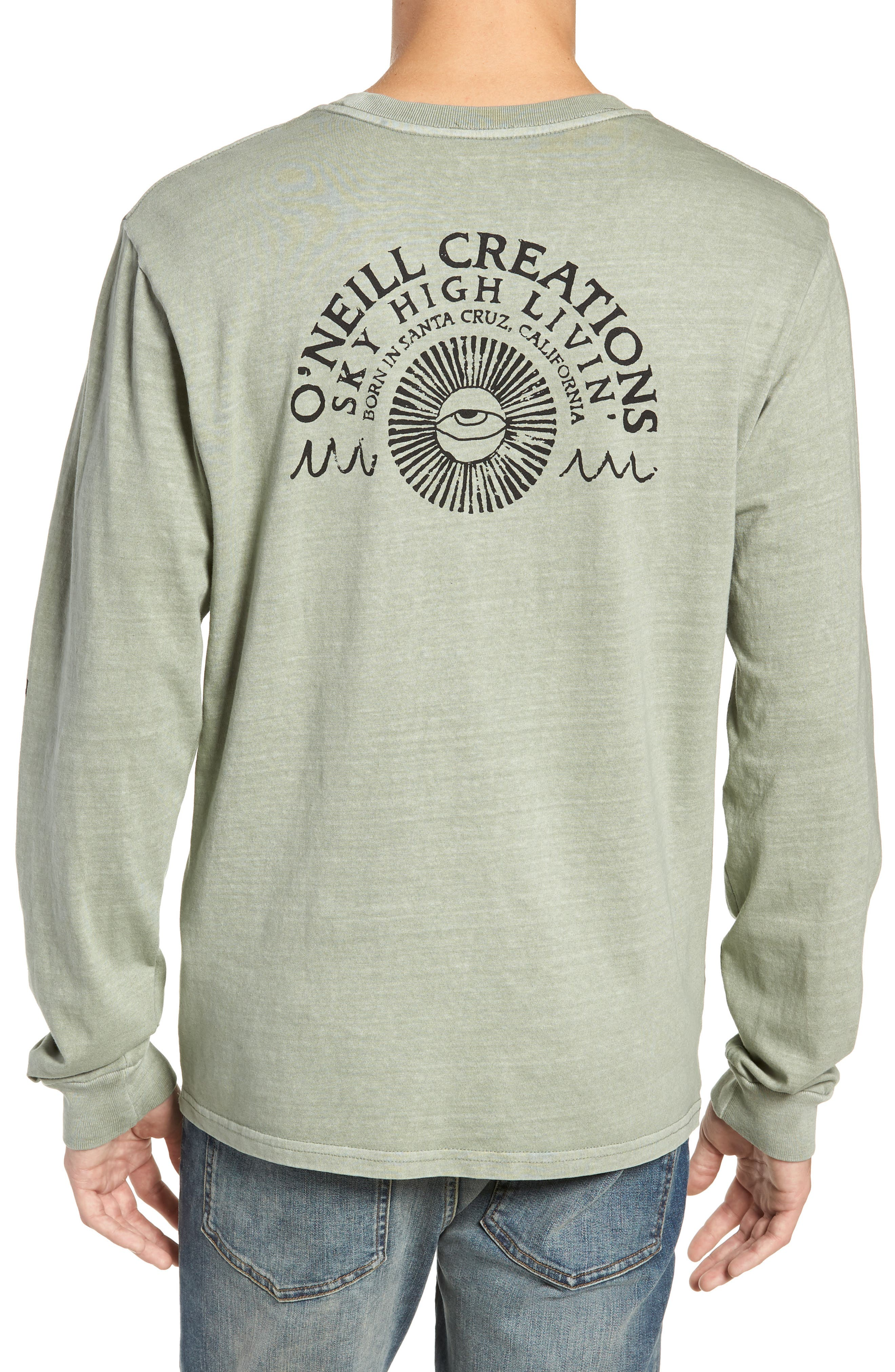 Sky High Graphic Long Sleeve T-Shirt,                             Alternate thumbnail 2, color,                             SAGE