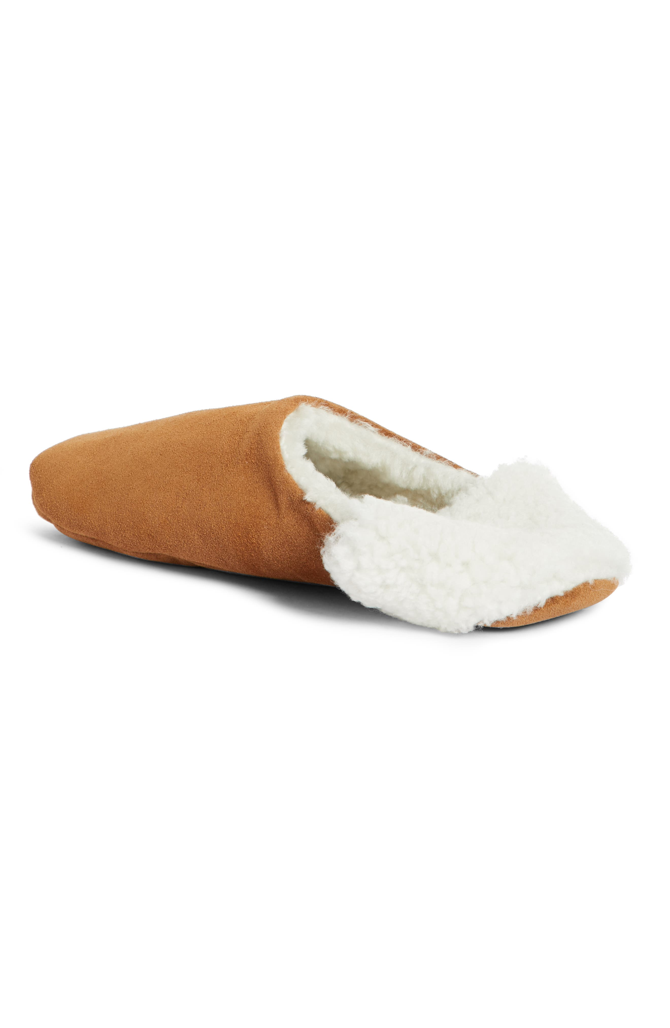 Moroccan Indoor Slipper,                             Alternate thumbnail 3, color,                             SADDLE/ IVORY