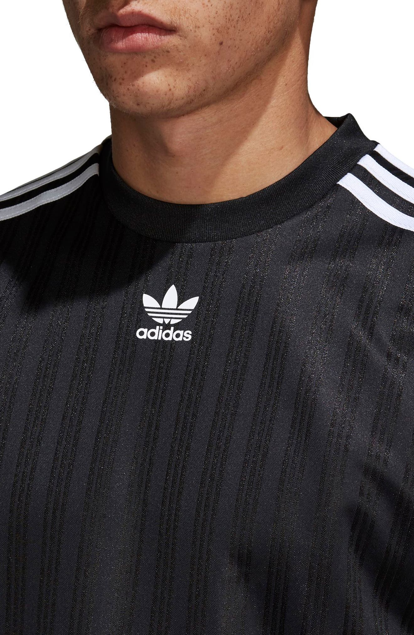ADIDAS ORIGINALS,                             Long Sleeve Jersey Shirt,                             Alternate thumbnail 4, color,                             001