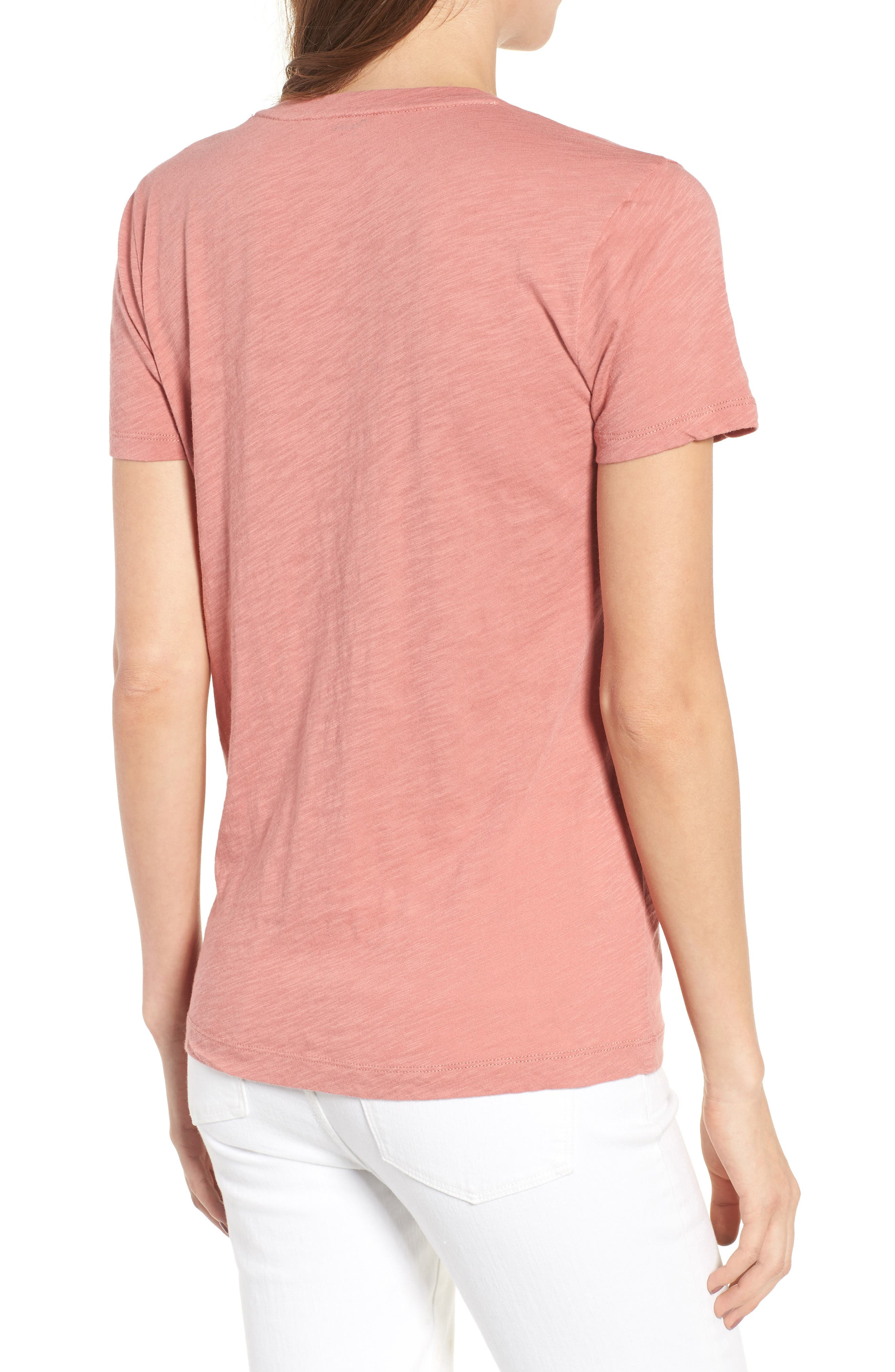 Whisper Cotton V-Neck Pocket Tee,                             Alternate thumbnail 78, color,