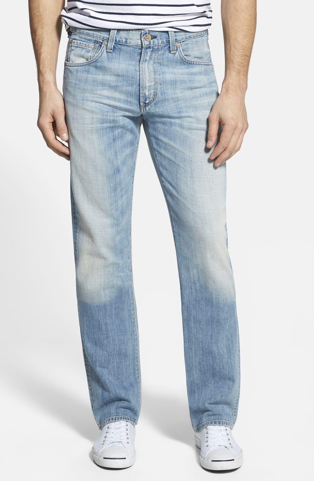 'Sid' Straight Leg Jeans,                         Main,                         color, CONFEDERACY