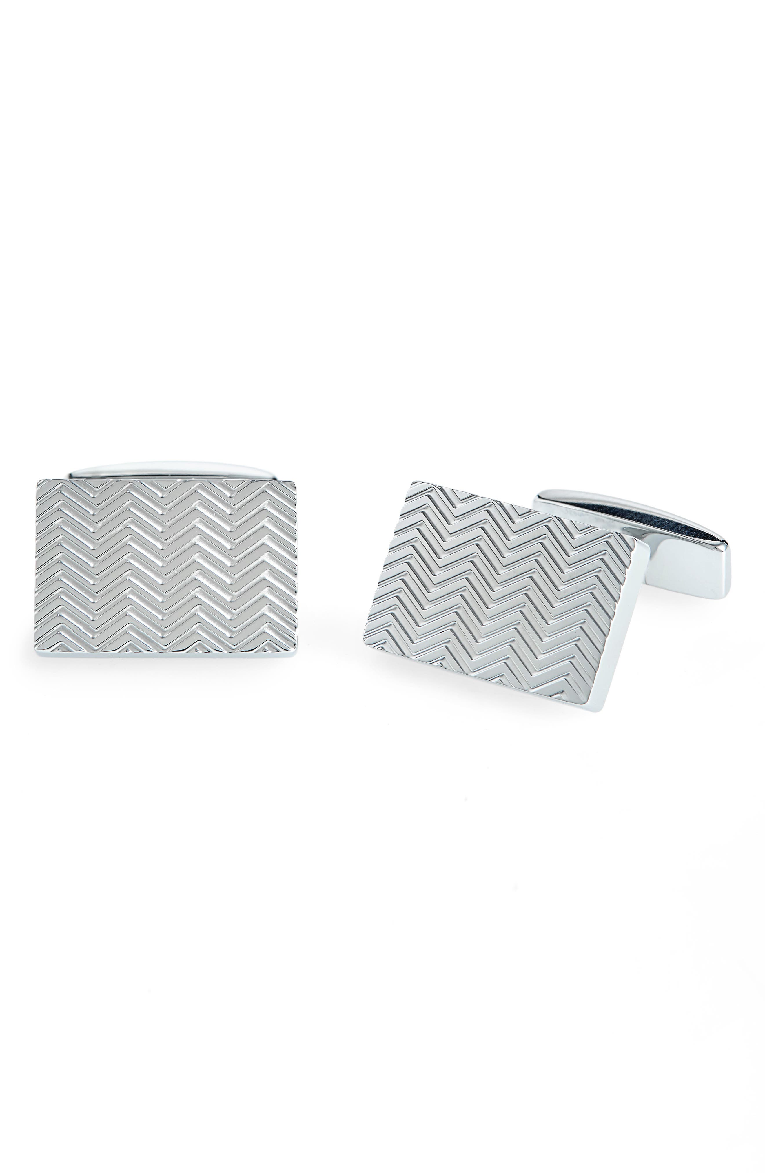 Fede Cuff Links,                             Main thumbnail 1, color,                             SILVER