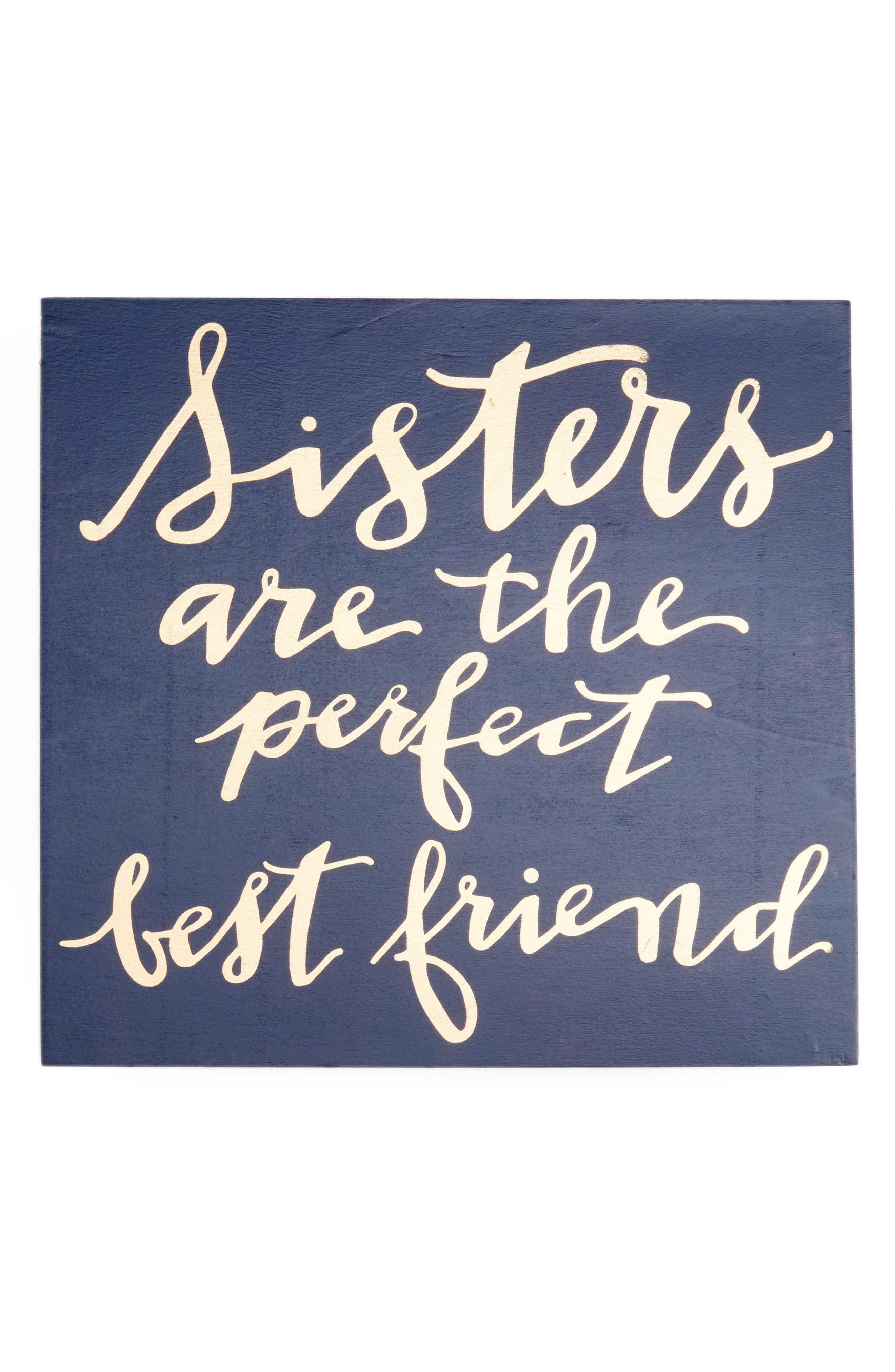 Sisters Are the Perfect Best Friend Box Sign,                             Main thumbnail 1, color,                             400