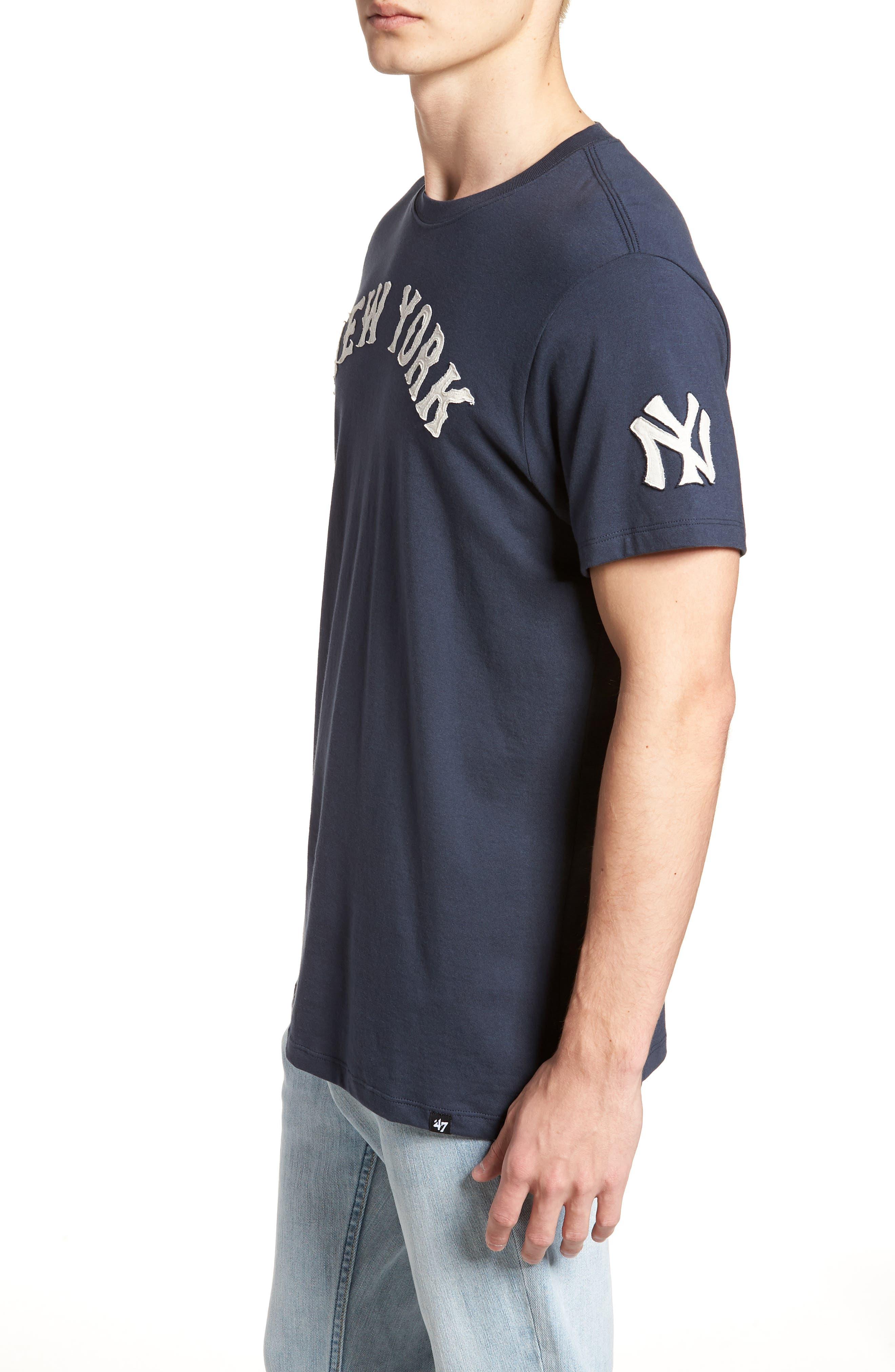 MLB Vintage Fieldhouse New York Yankees T-Shirt,                             Alternate thumbnail 3, color,                             MIDNIGHT