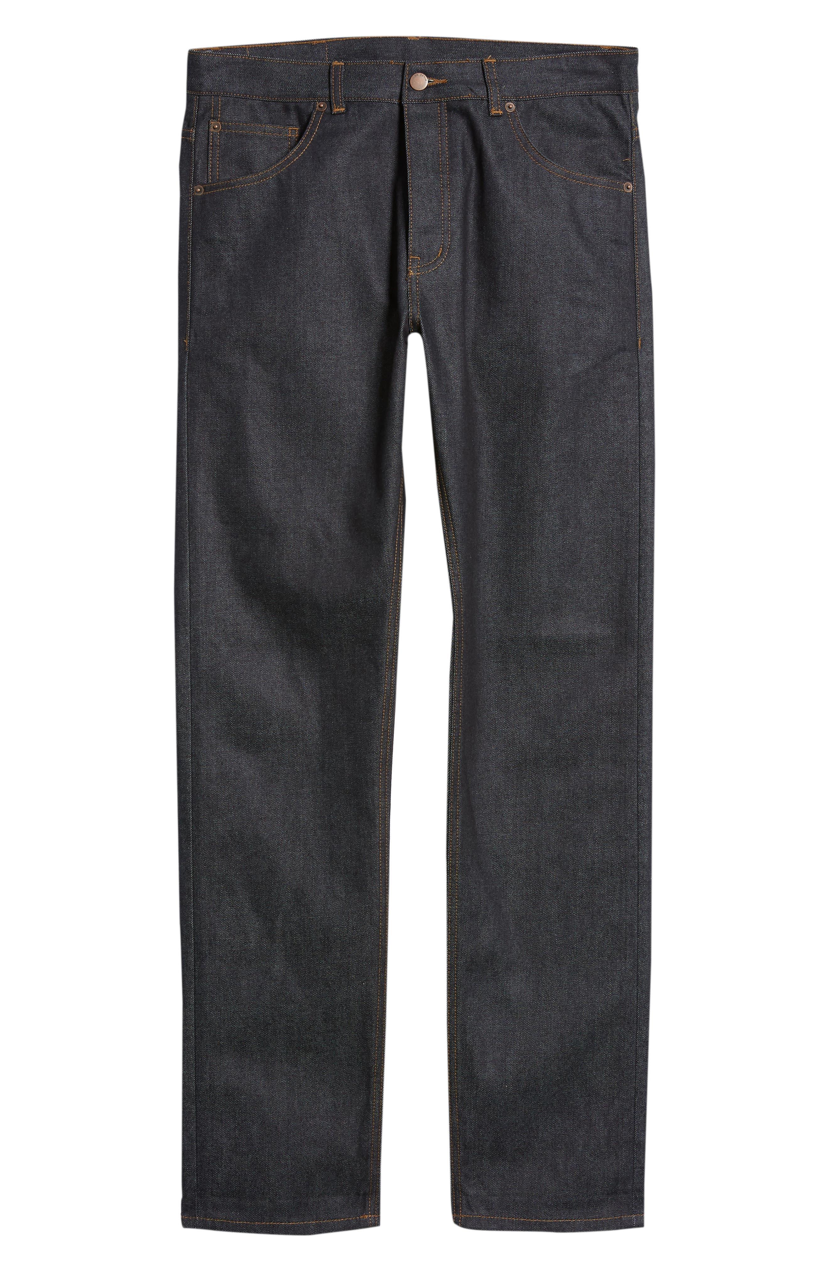 Dr. Denim Jeansmaker Gus Slim Straight Leg Raw Selvedge Jeans,                             Alternate thumbnail 6, color,                             RAW SELVAGE