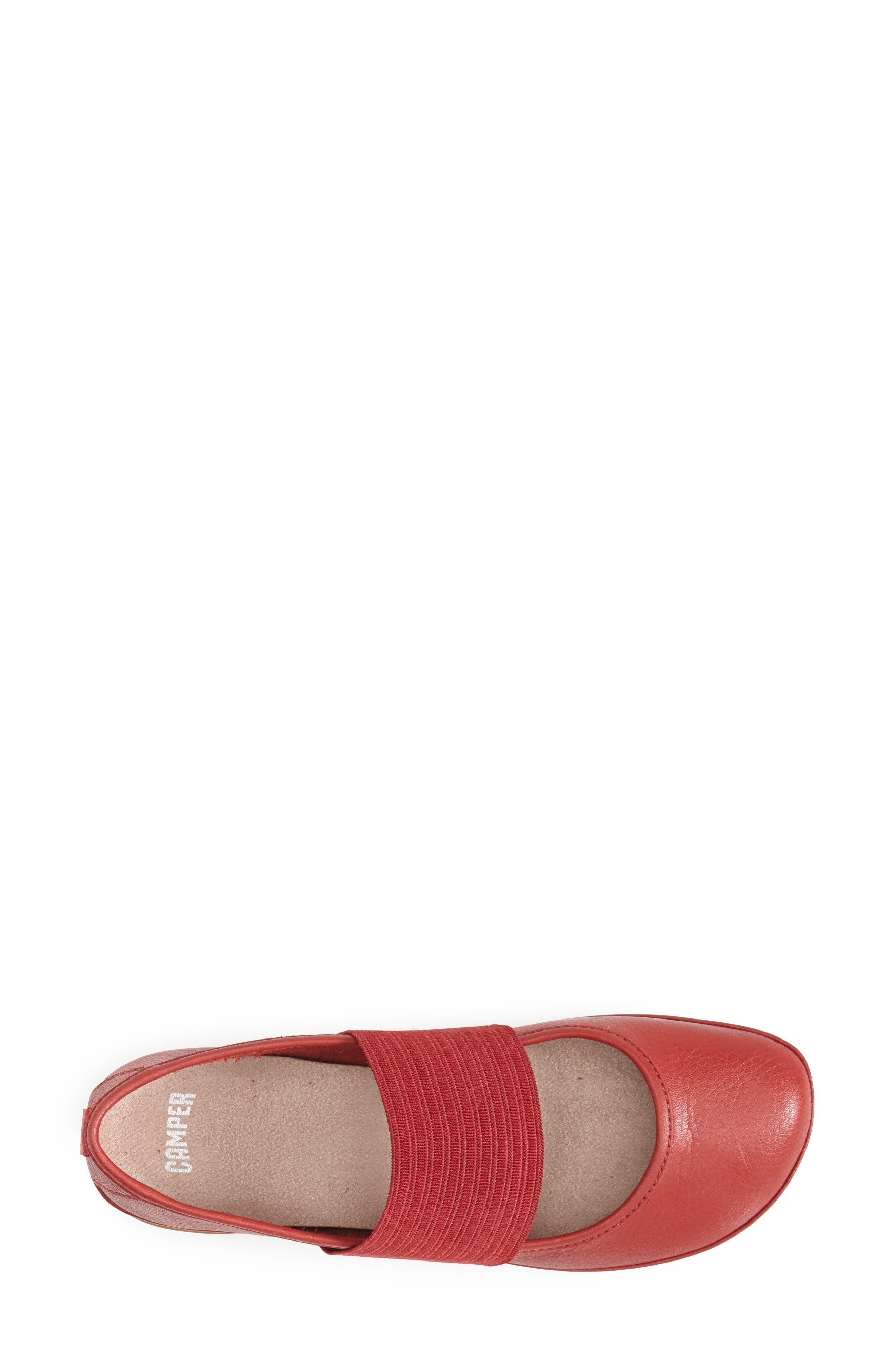 'Right Nina' Leather Ballerina Flat,                             Alternate thumbnail 71, color,