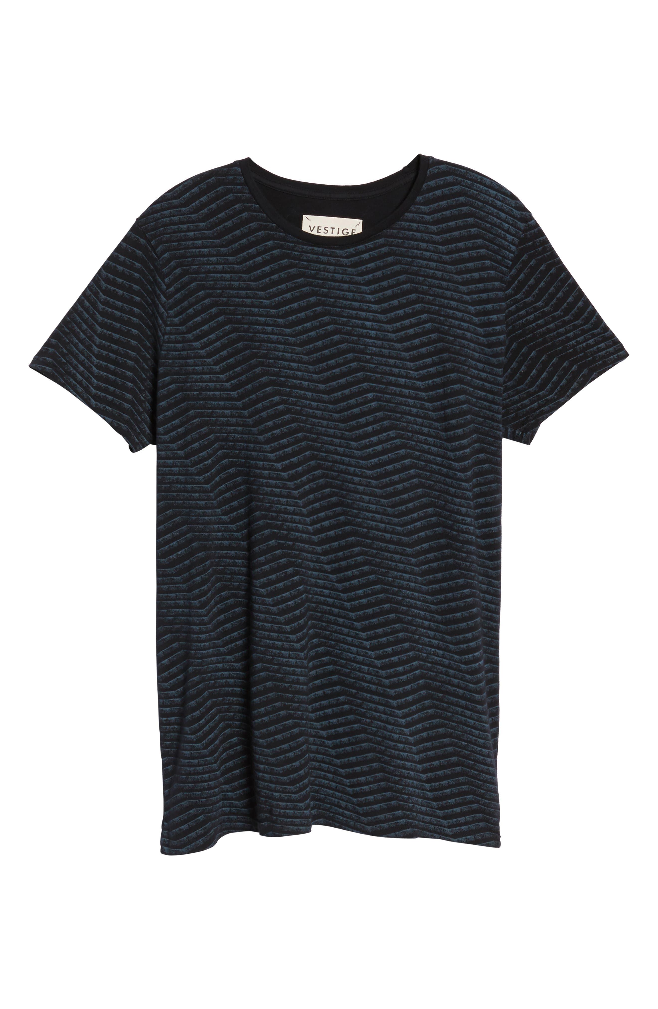 Chevron Stripe T-Shirt,                             Alternate thumbnail 6, color,