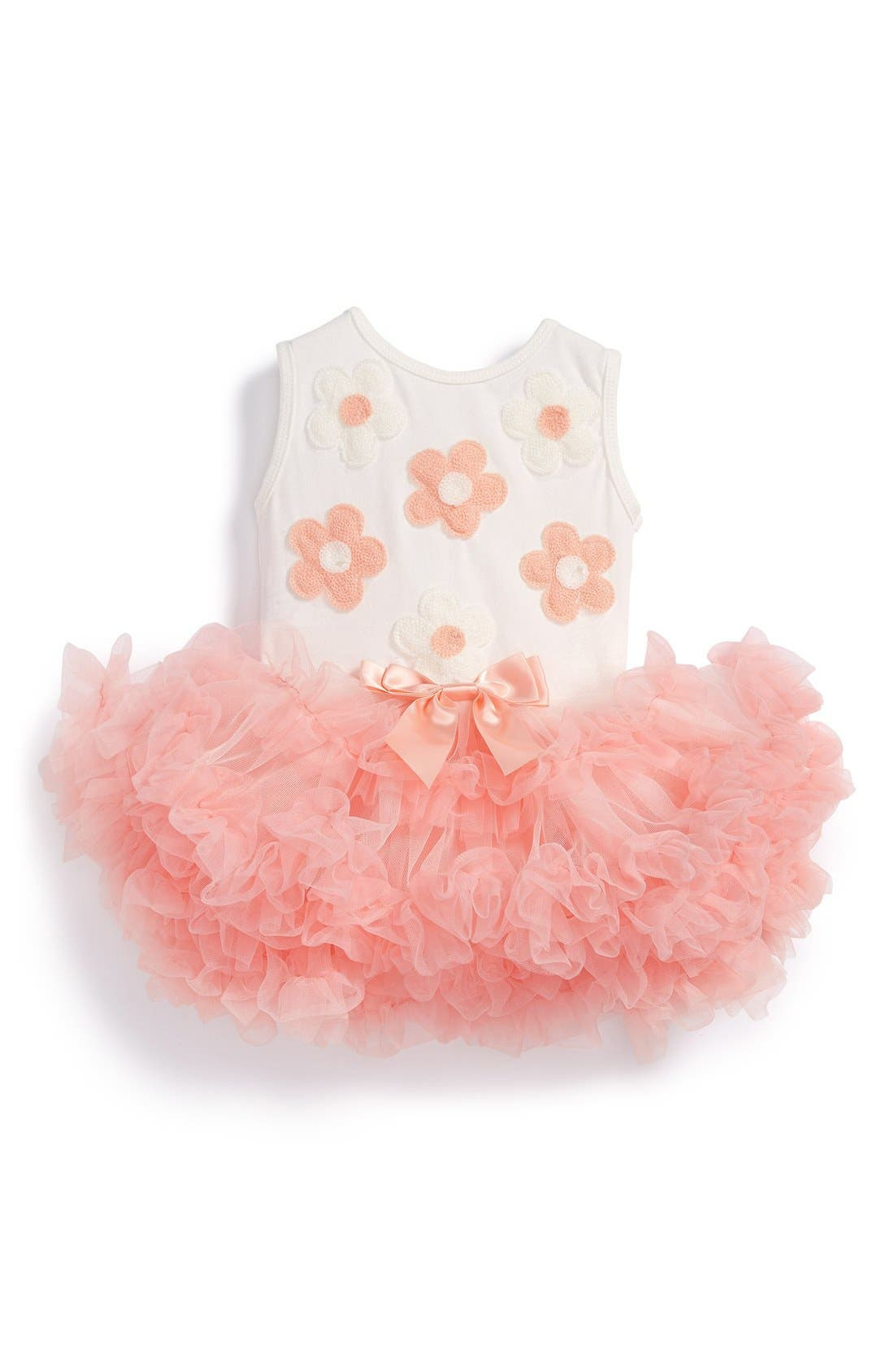 'Daisy' Tulle Dress,                         Main,                         color, CORAL