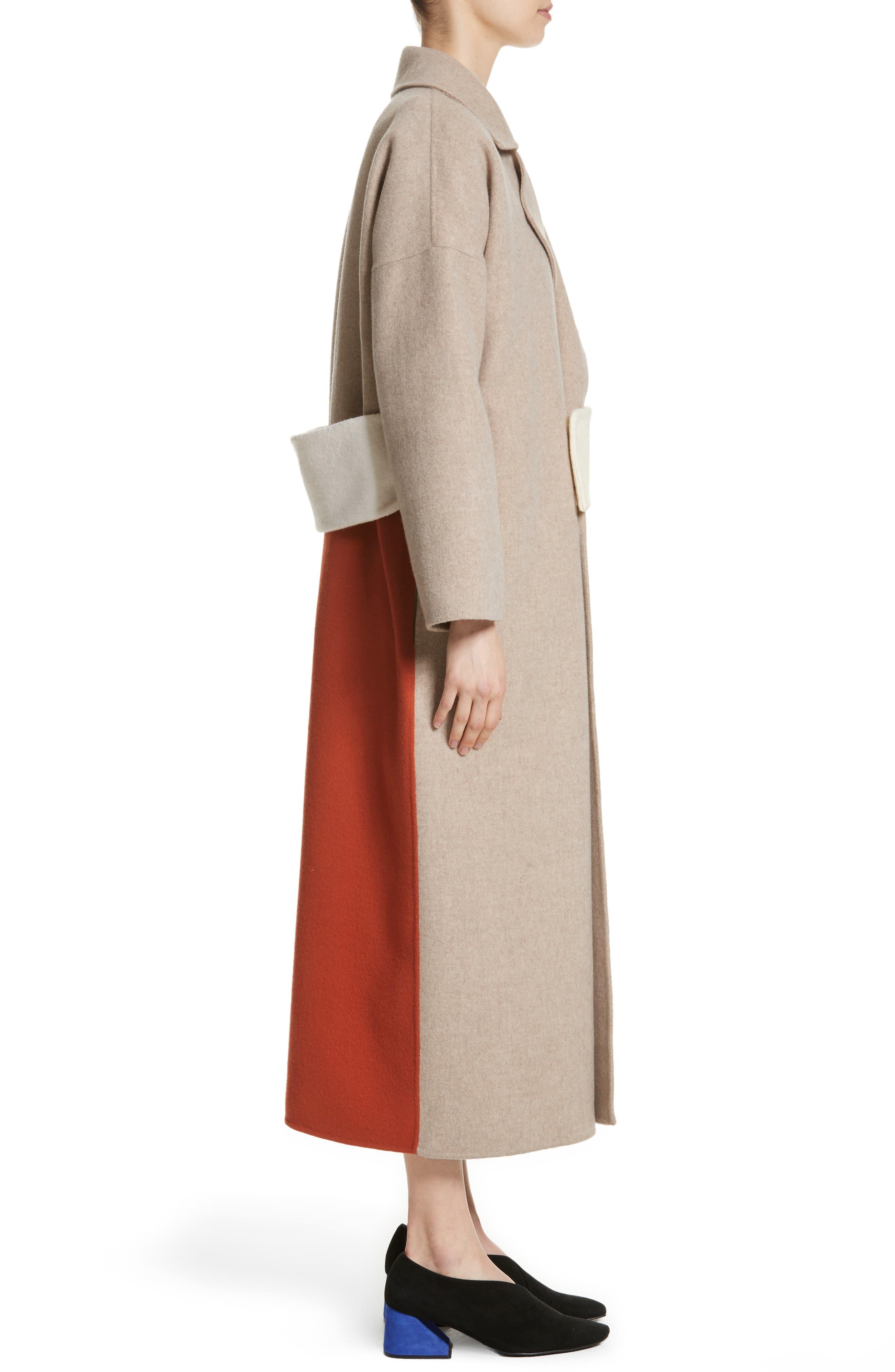 Kate Oversize Belted Coat,                             Alternate thumbnail 3, color,                             260