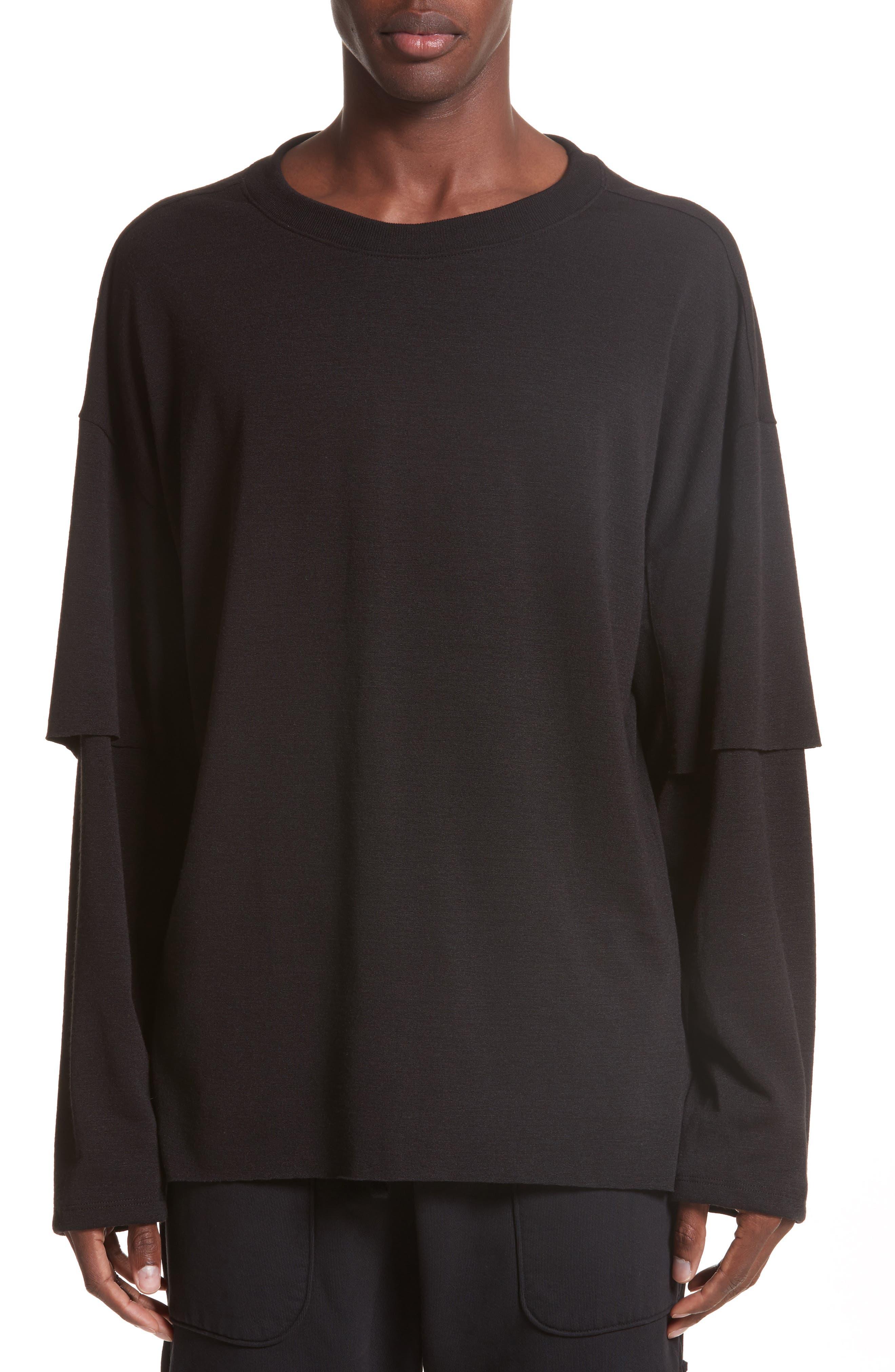 Sylvan Layered Pullover,                         Main,                         color, 001