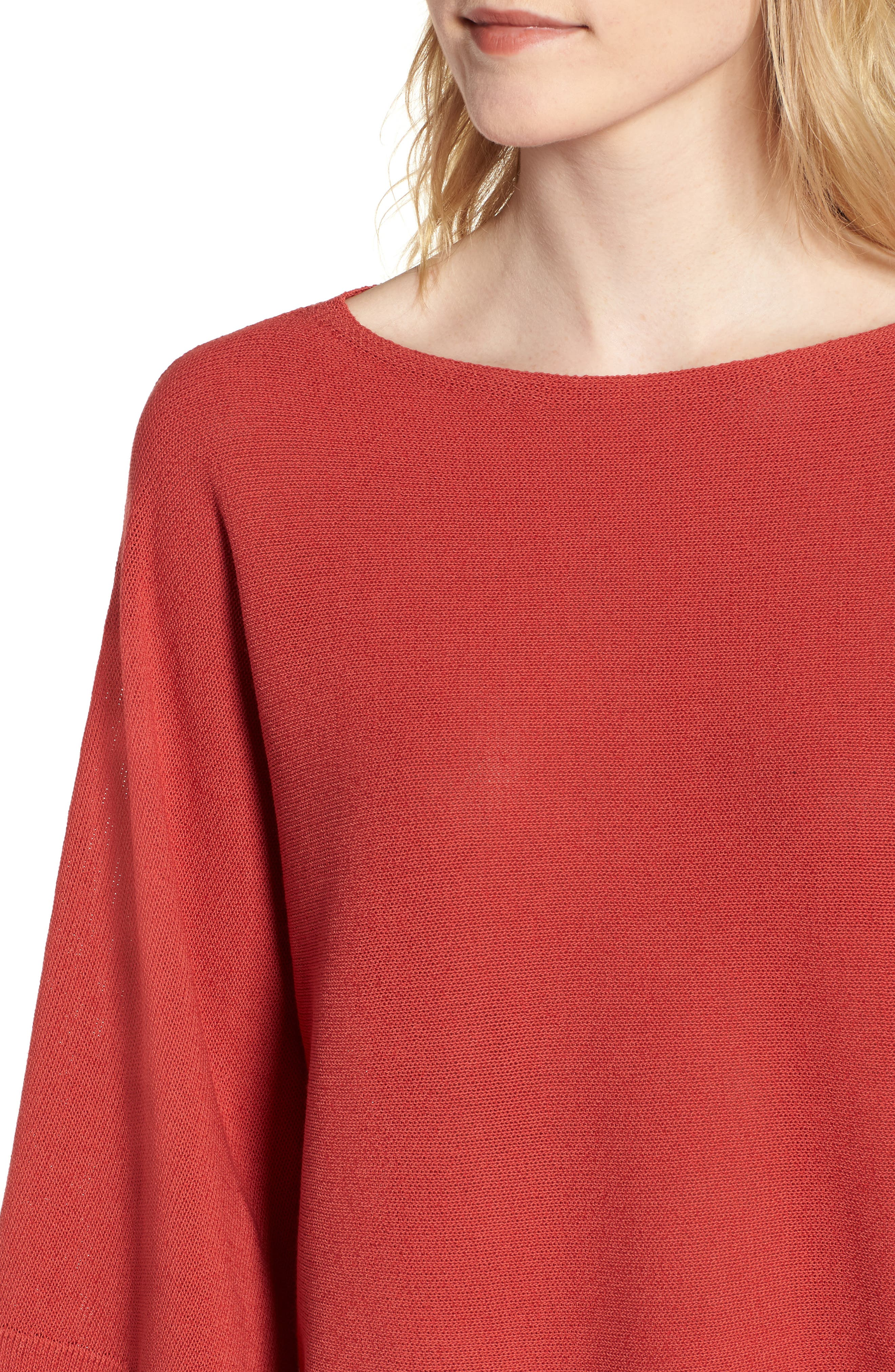 Organic Cotton Blend Sweater,                             Alternate thumbnail 17, color,