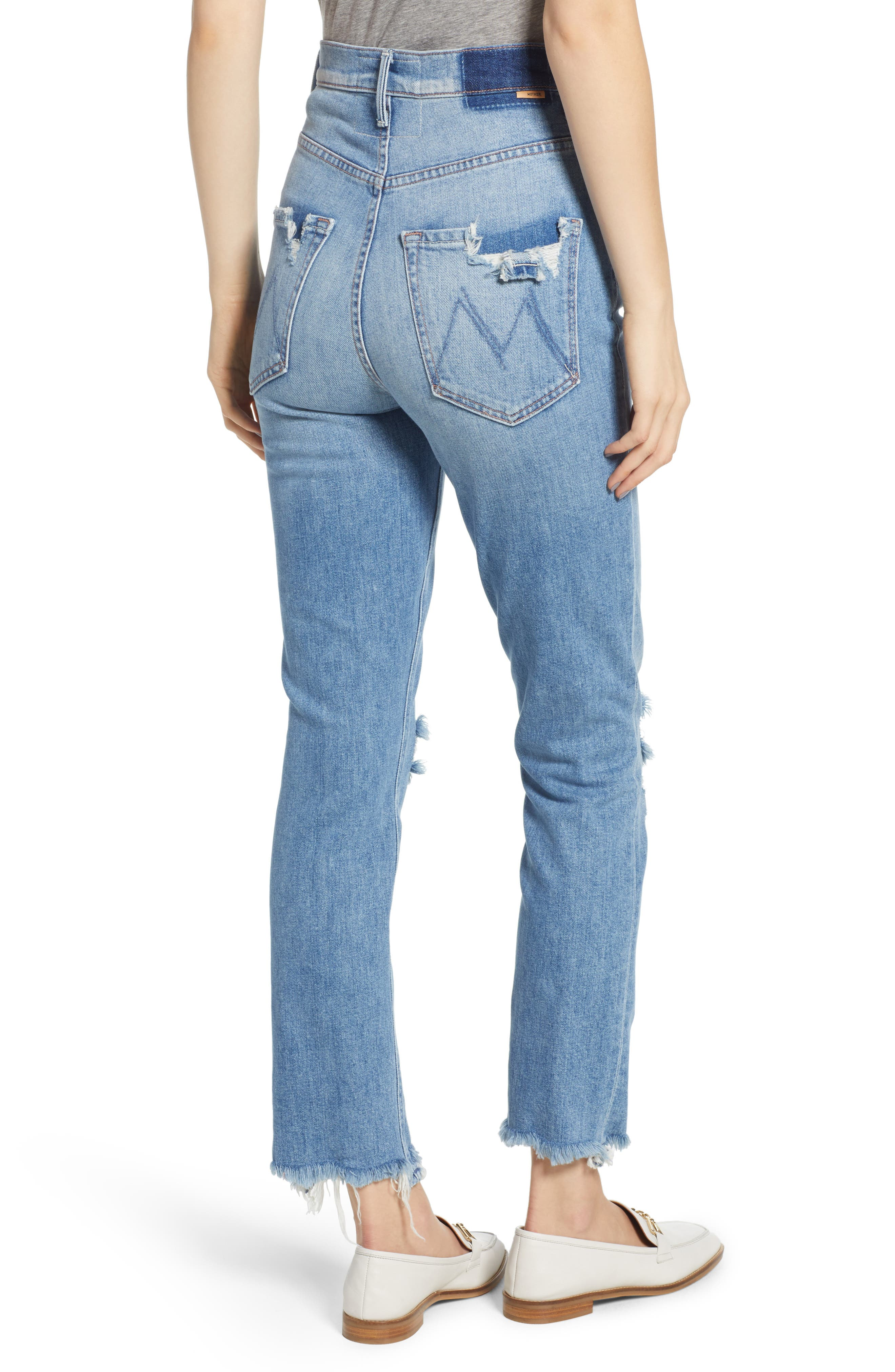 Dazzler Shift Step Waistband Jeans,                             Alternate thumbnail 2, color,                             452