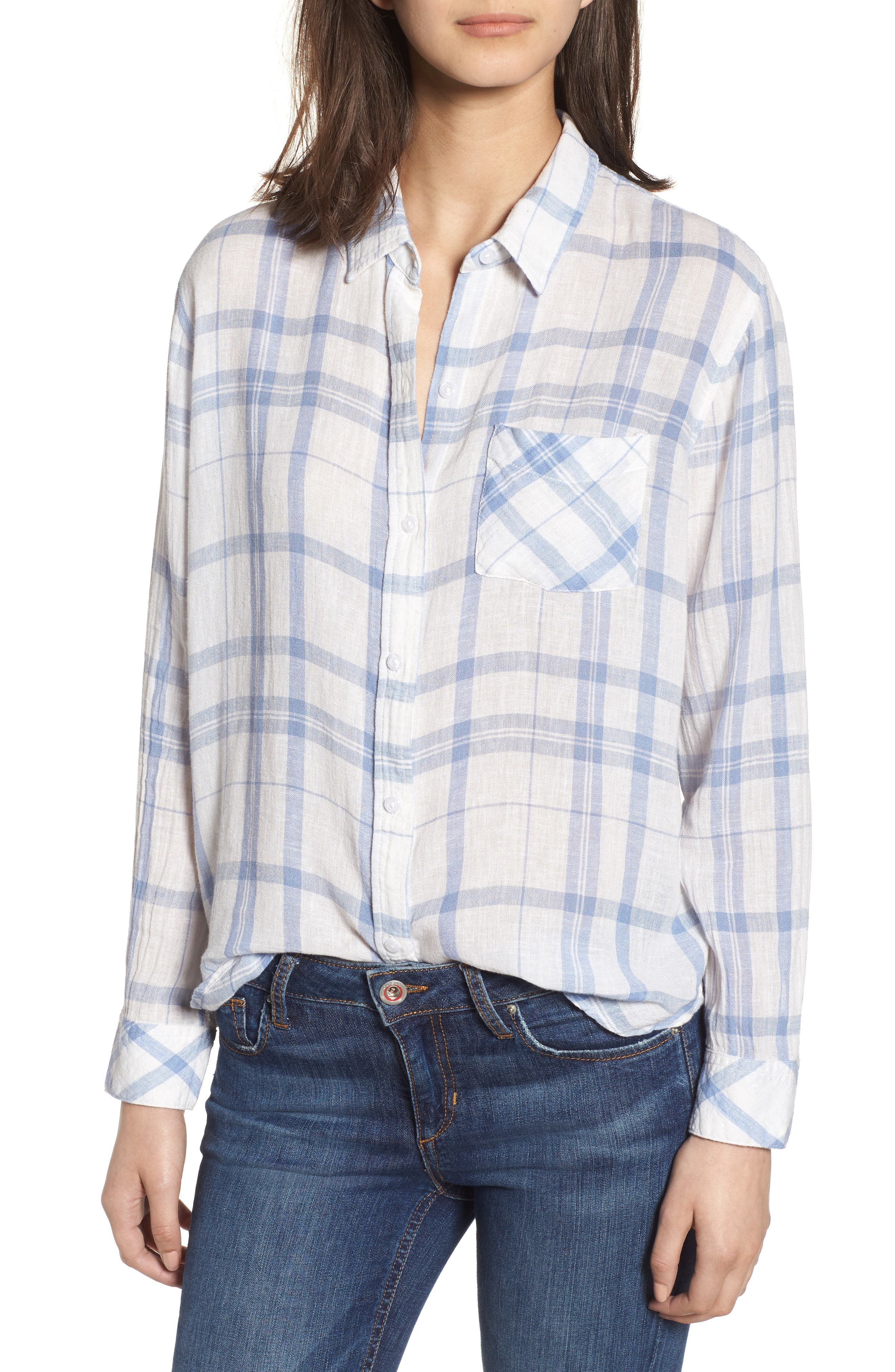 Charli Shirt,                             Main thumbnail 1, color,                             TRUE BLUE WHITE