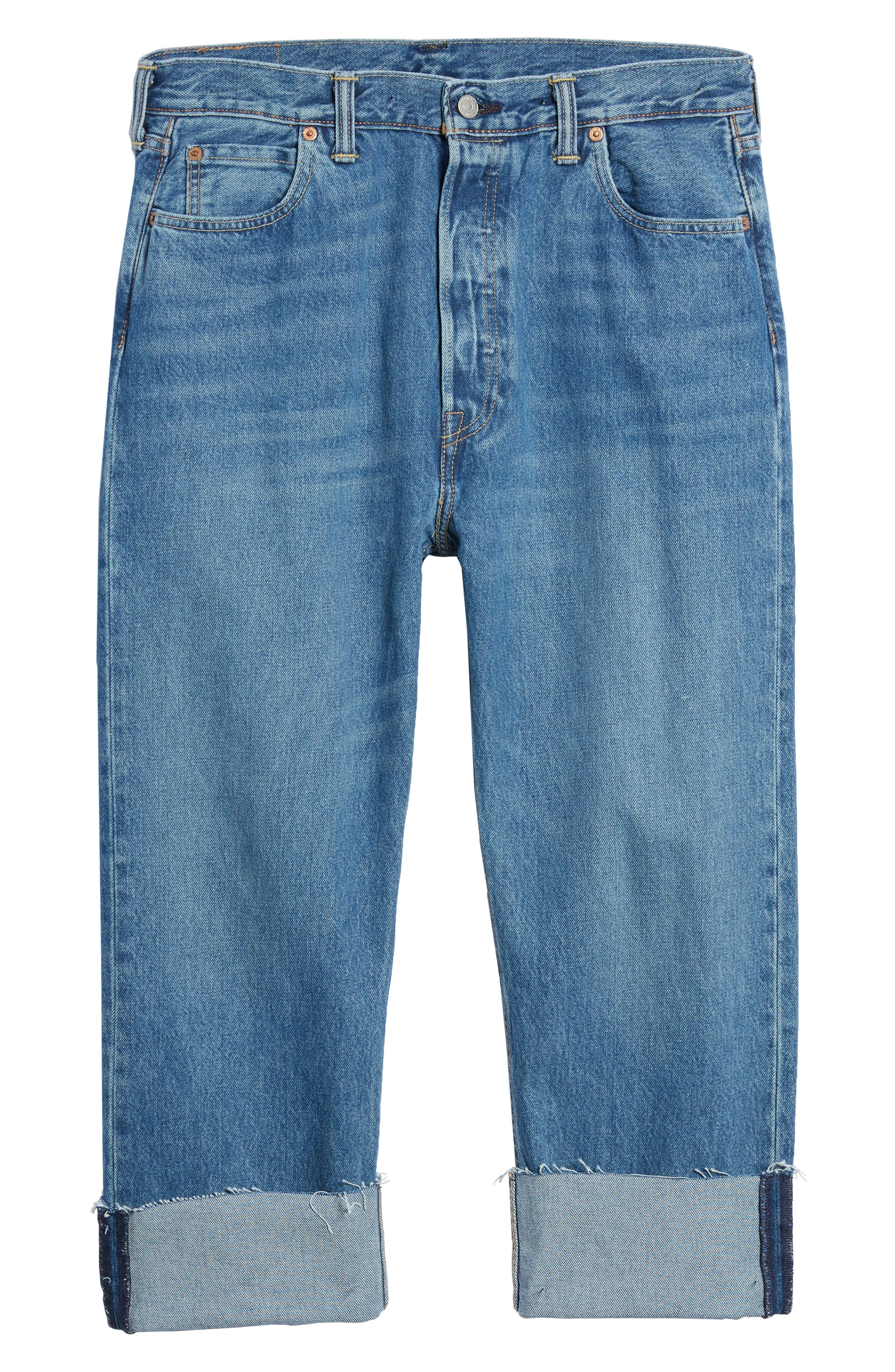 501<sup>™</sup> Straight Leg Jeans,                             Alternate thumbnail 6, color,                             420