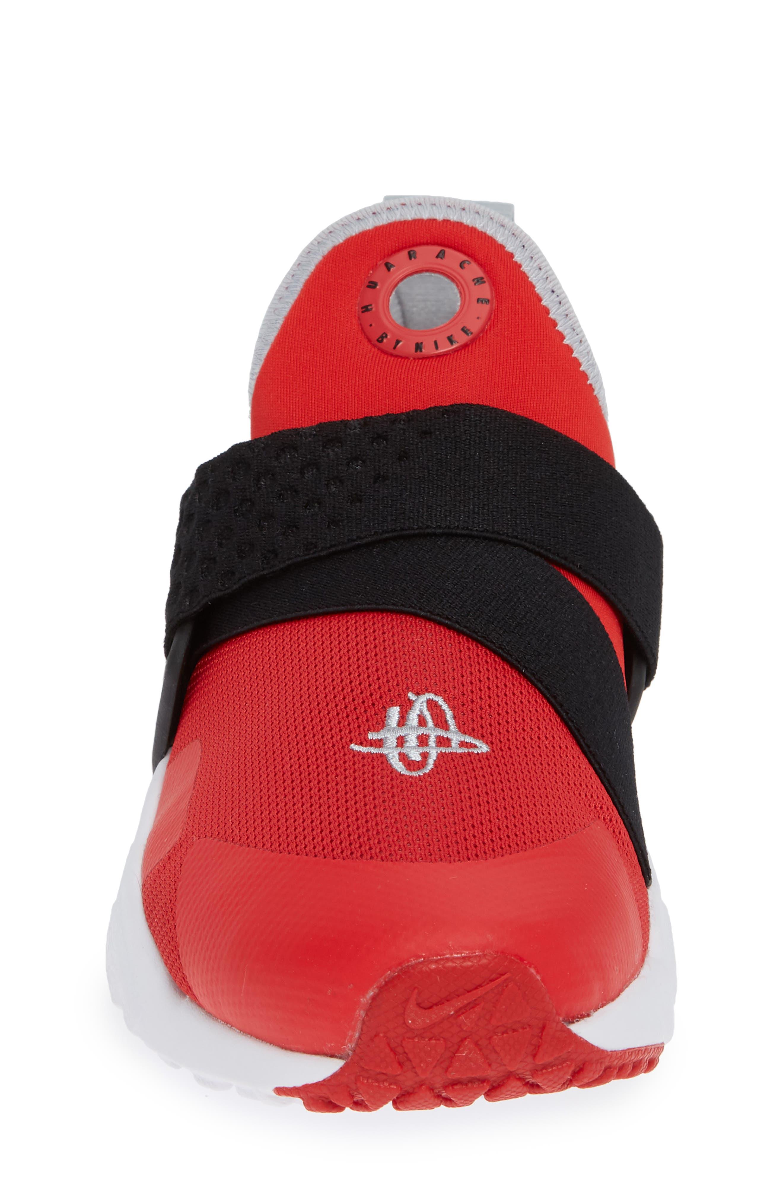 Huarache Extreme Sneaker,                             Alternate thumbnail 4, color,                             RED/ GREY/ BLACK/ WHITE