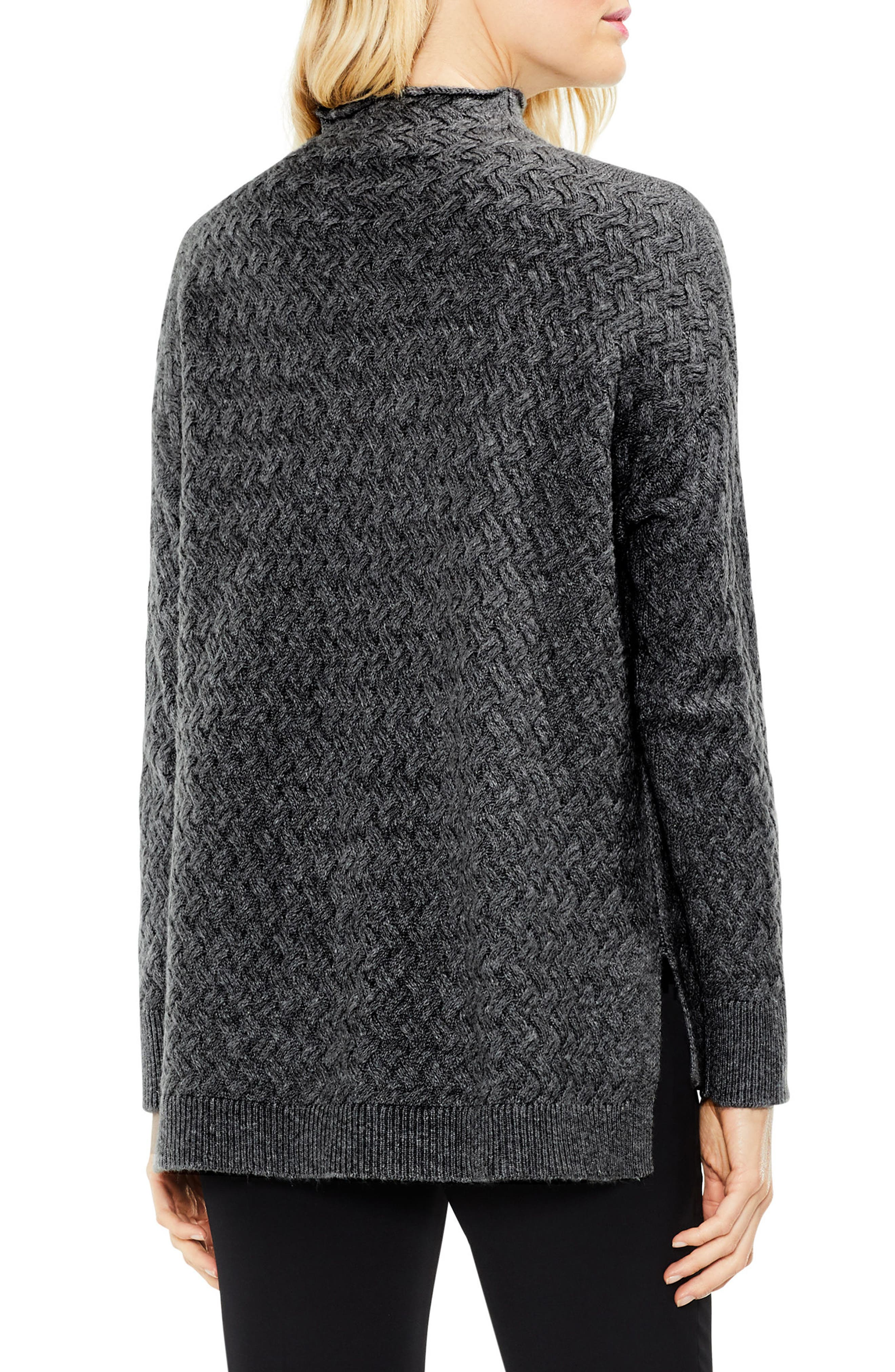 Cable Mock Neck Sweater,                         Main,                         color, 023
