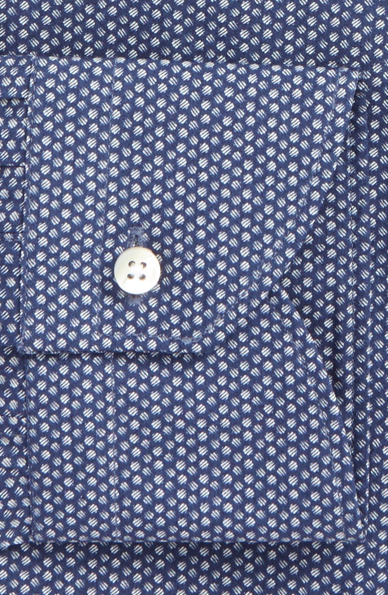 Regular Fit Dot Dress Shirt,                             Alternate thumbnail 2, color,                             405