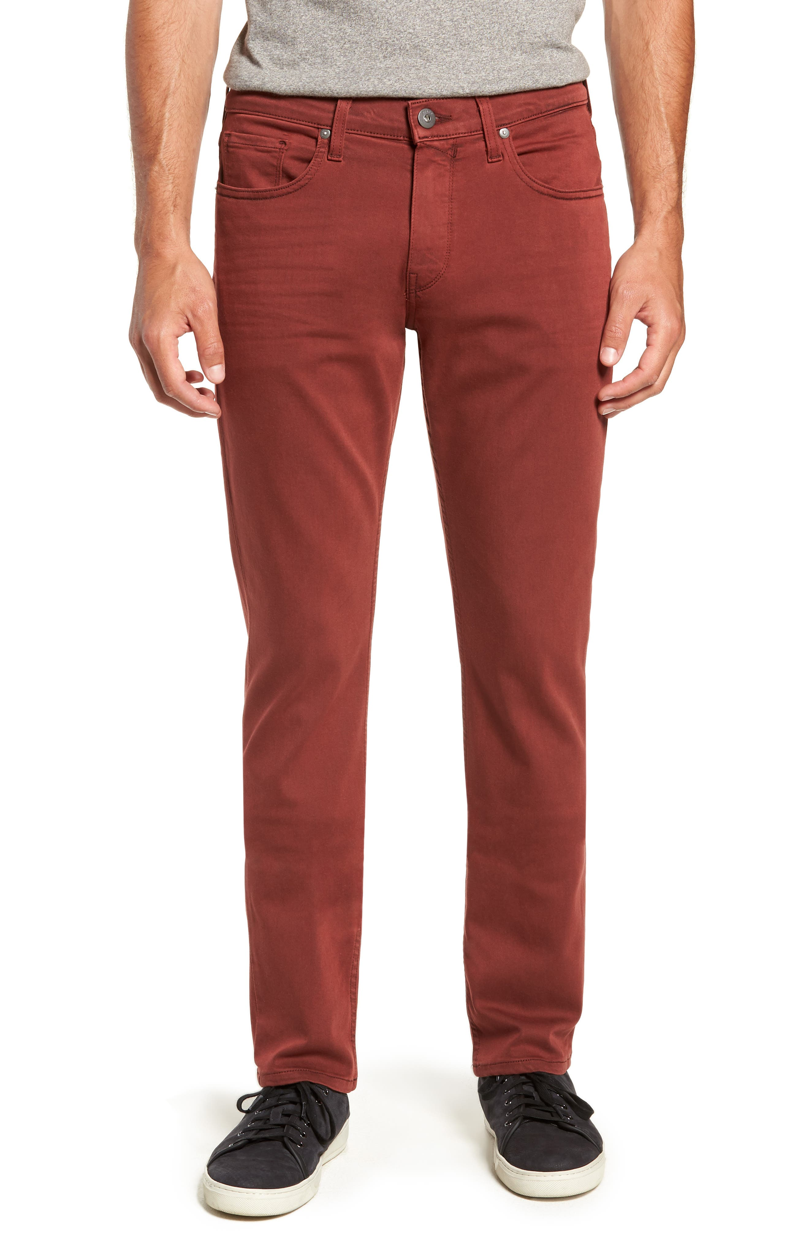 Transcend - Federal Slim Straight Leg Jeans,                             Main thumbnail 1, color,                             VINTAGE PERSIMMON