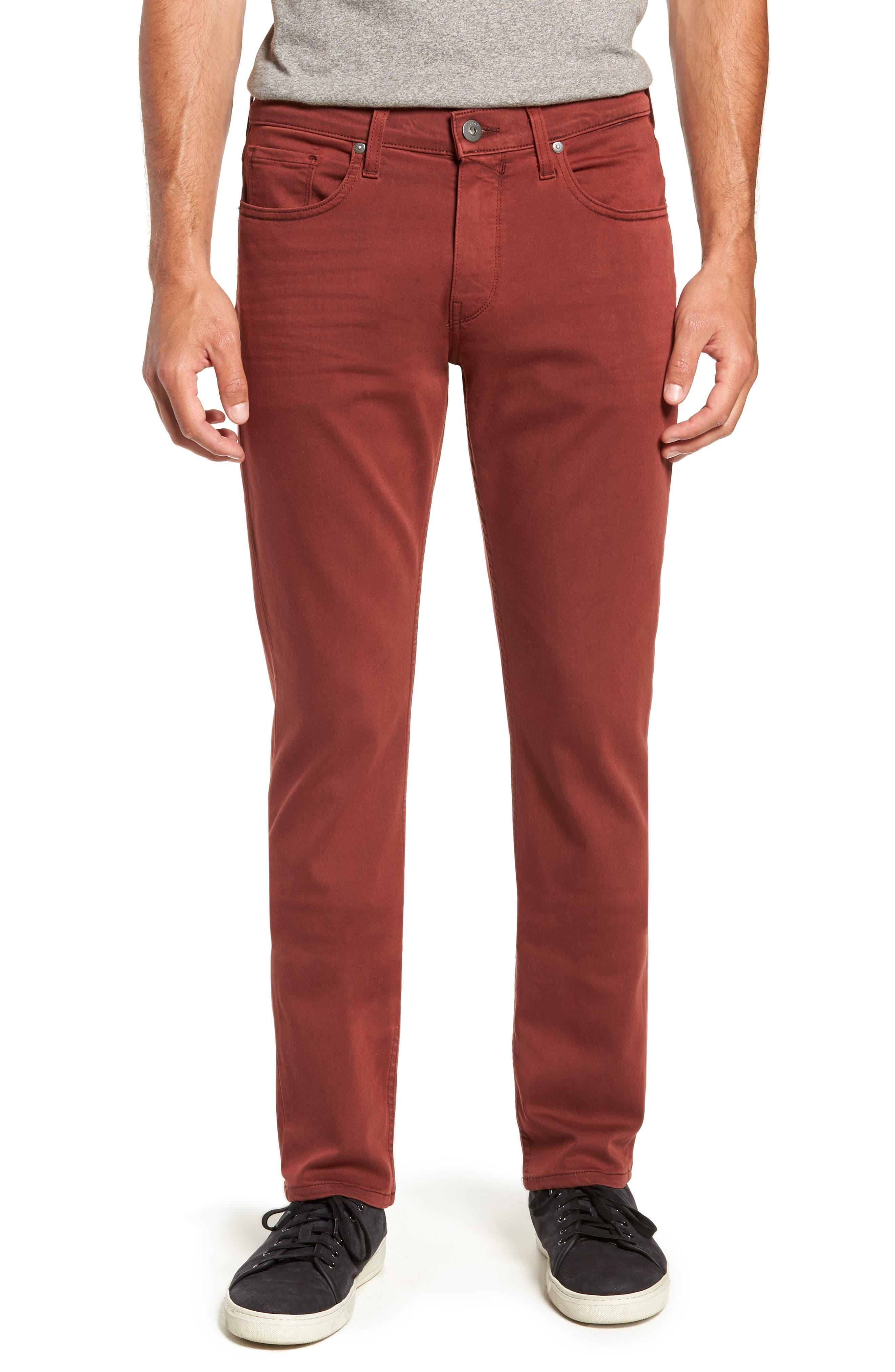 Transcend - Federal Slim Straight Leg Jeans,                         Main,                         color, VINTAGE PERSIMMON