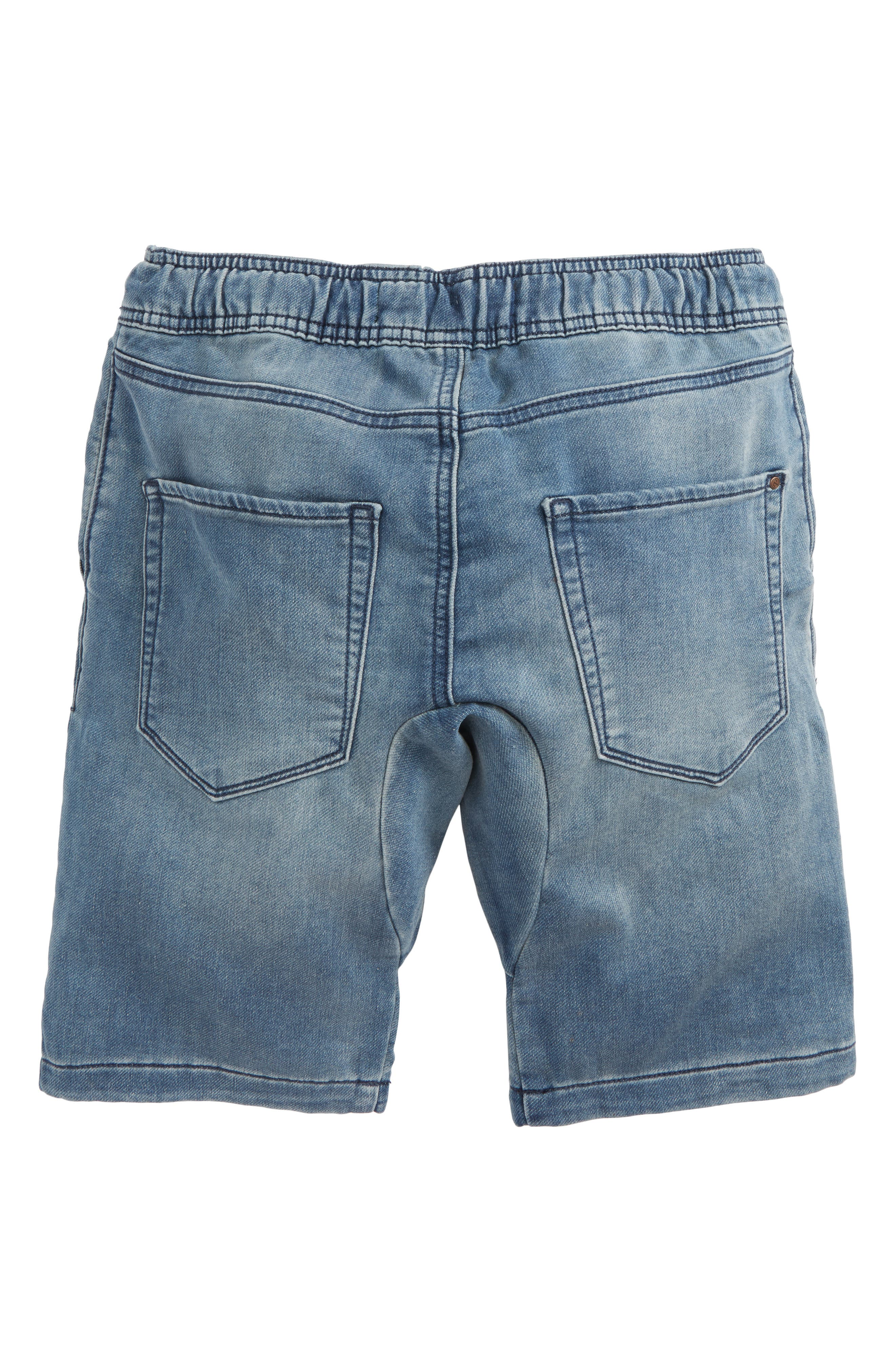 Denim Jogger Shorts,                             Alternate thumbnail 2, color,                             420