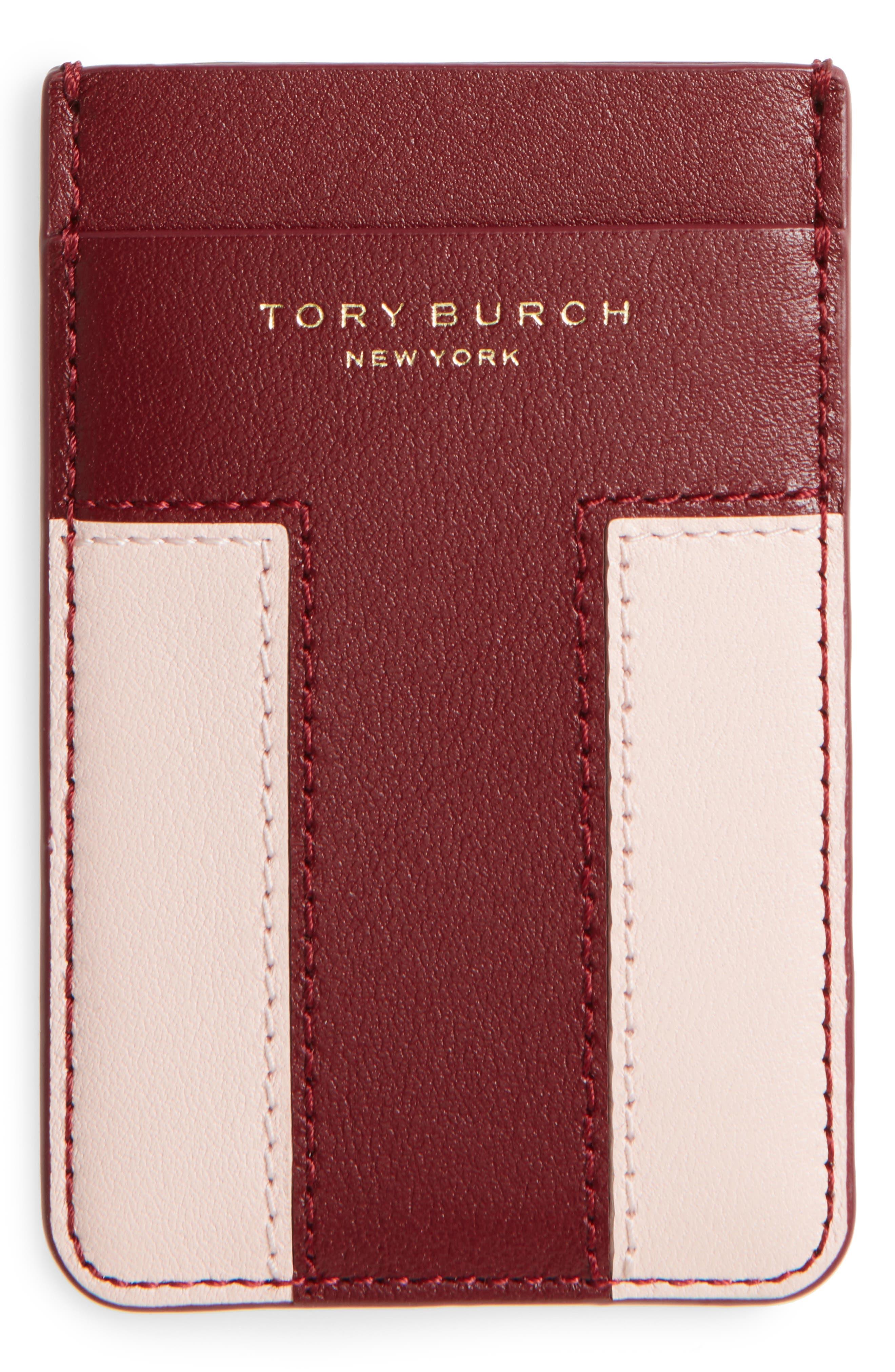 Block-T Logo Travel Leather Card Pocket,                             Alternate thumbnail 2, color,                             600
