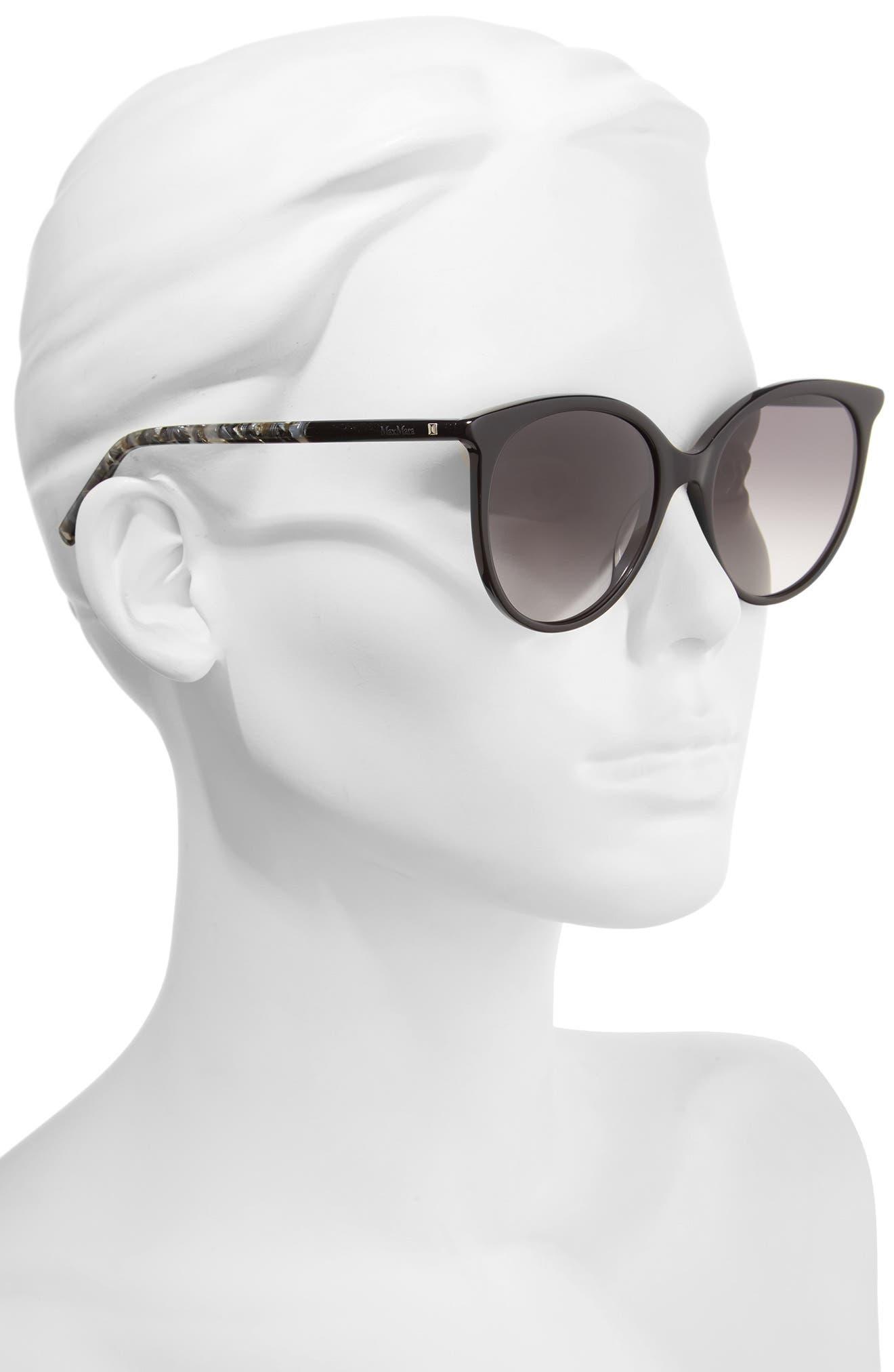 Tube 54mm Gradient Lens Cat Eye Sunglasses,                             Alternate thumbnail 2, color,                             BLACK/ GREY