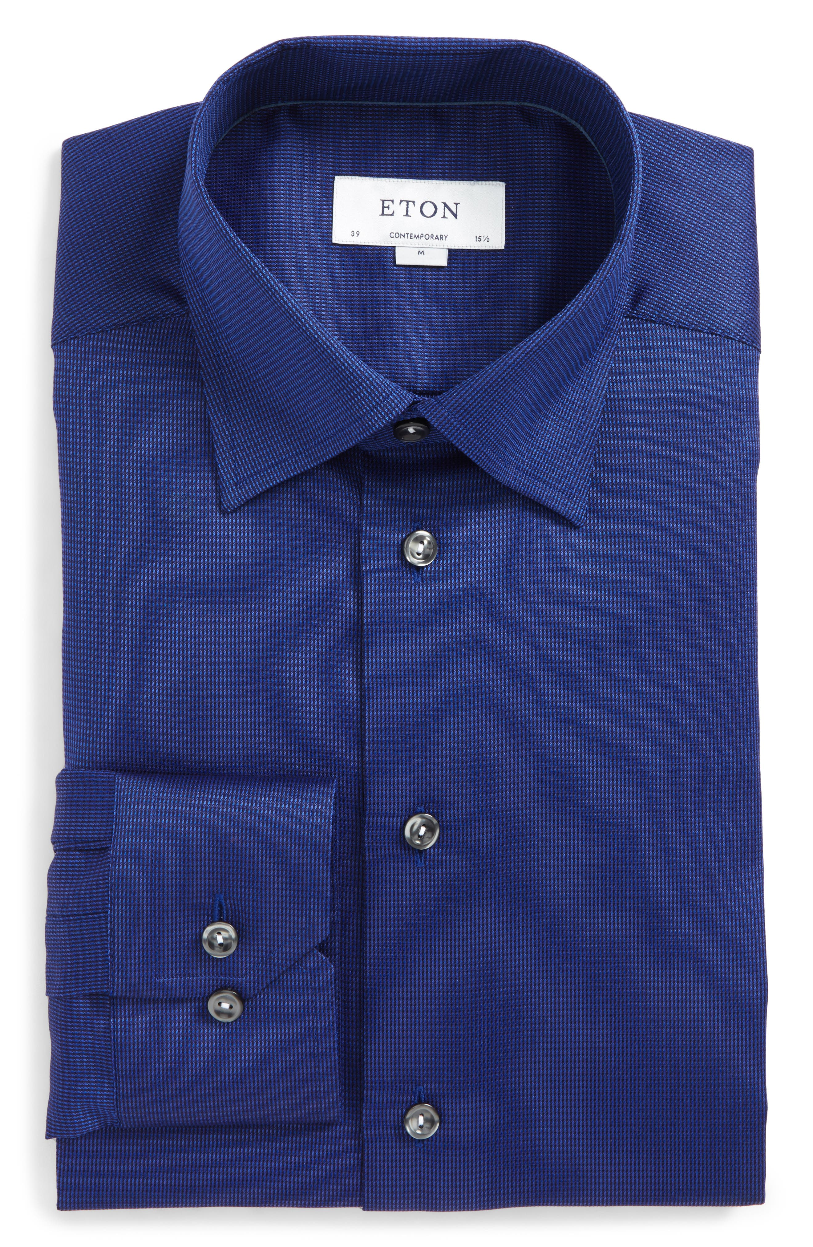 Contemporary Fit Solid Dress Shirt,                         Main,                         color, 400