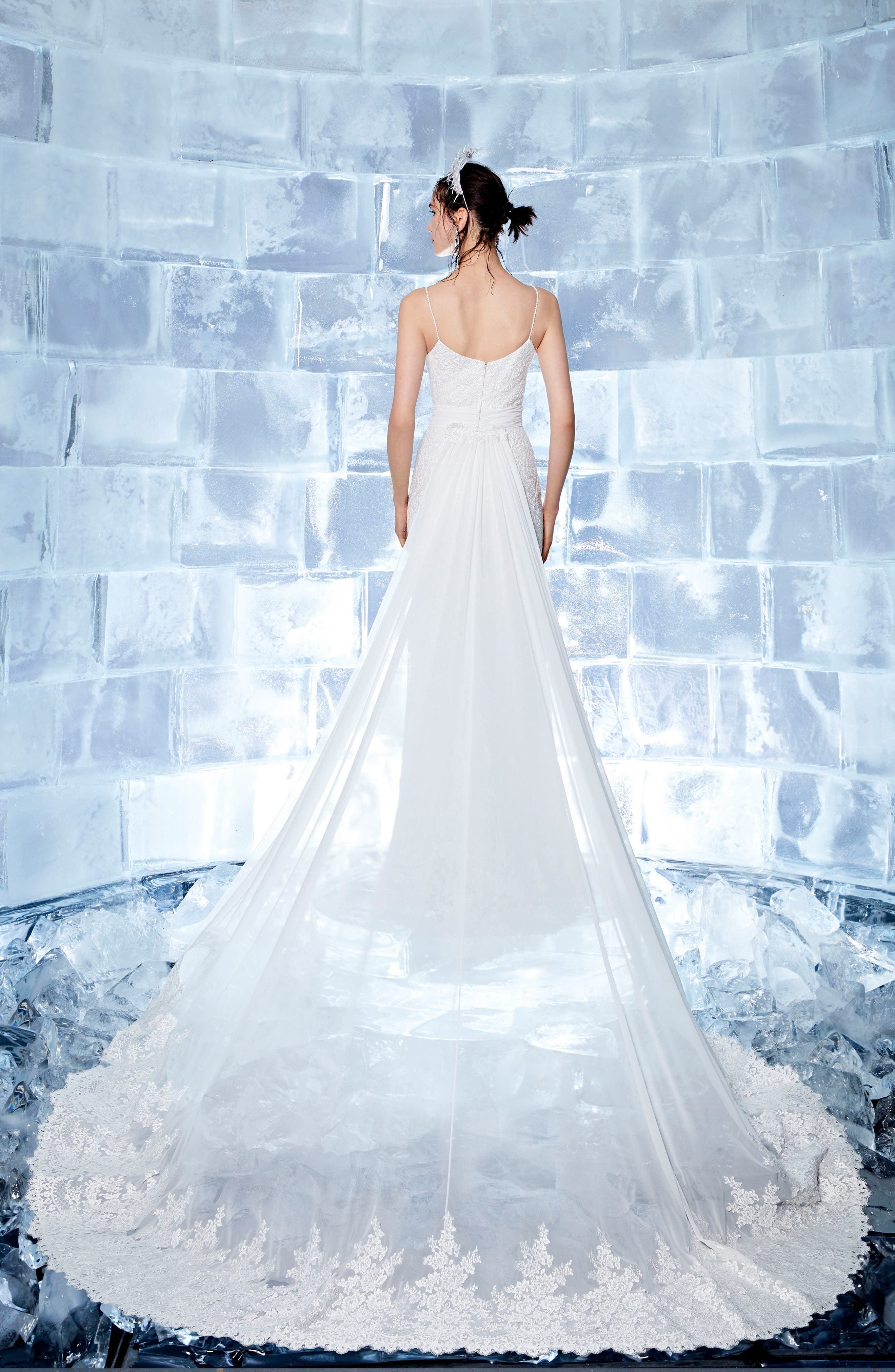 Iclyn Beaded Slipgown,                             Alternate thumbnail 2, color,                             OFF WHITE